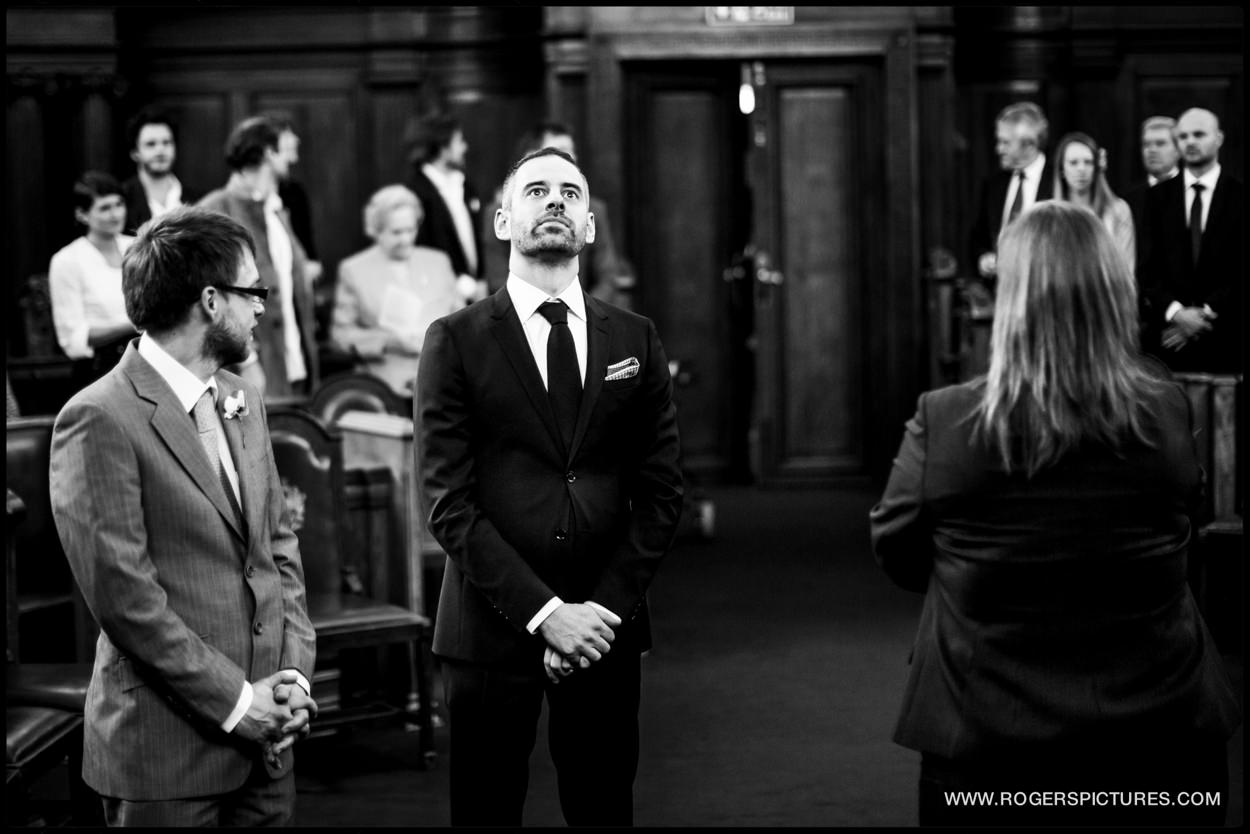 Nervous Groom at Islington Town Hall