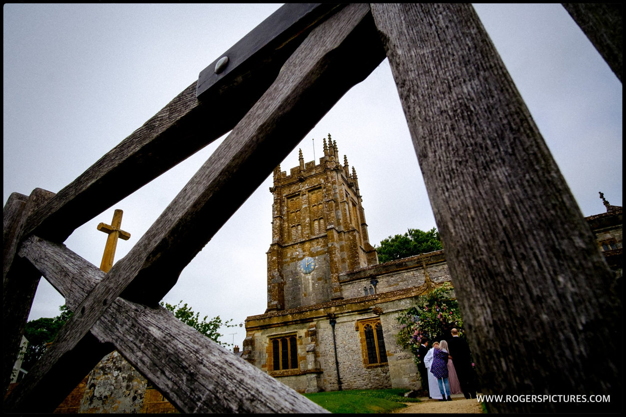 St Mary the virgin church in Dorset wedding