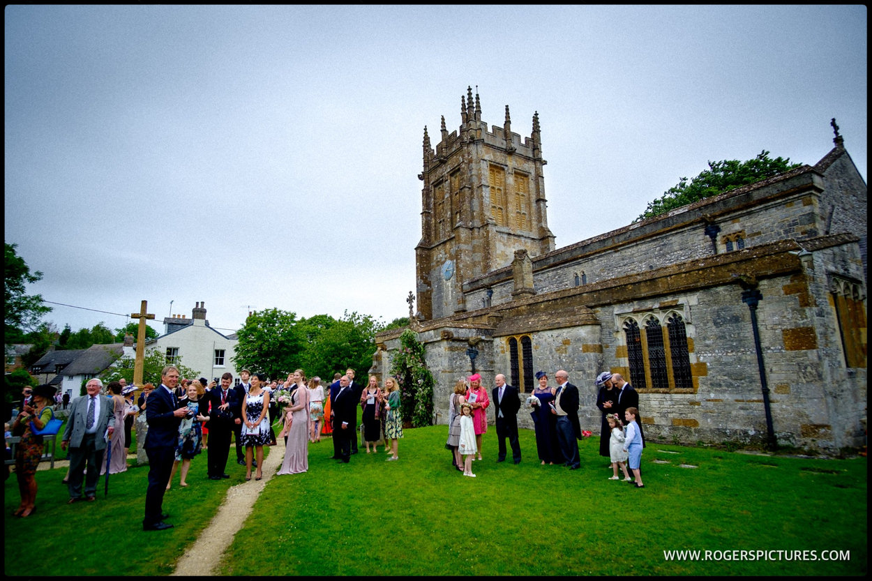 Wedding seen at Dorset village church