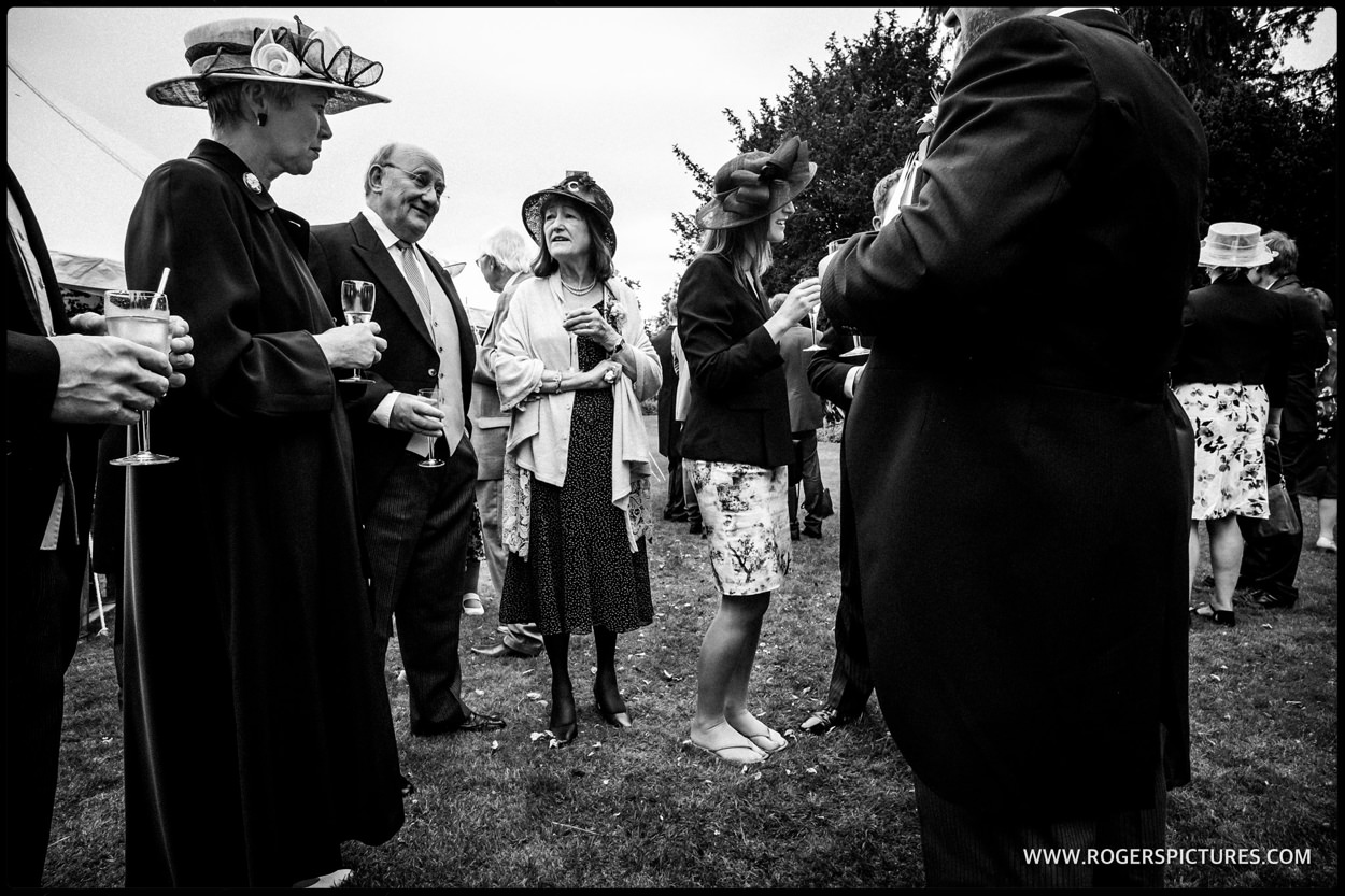Wedding guests in hats