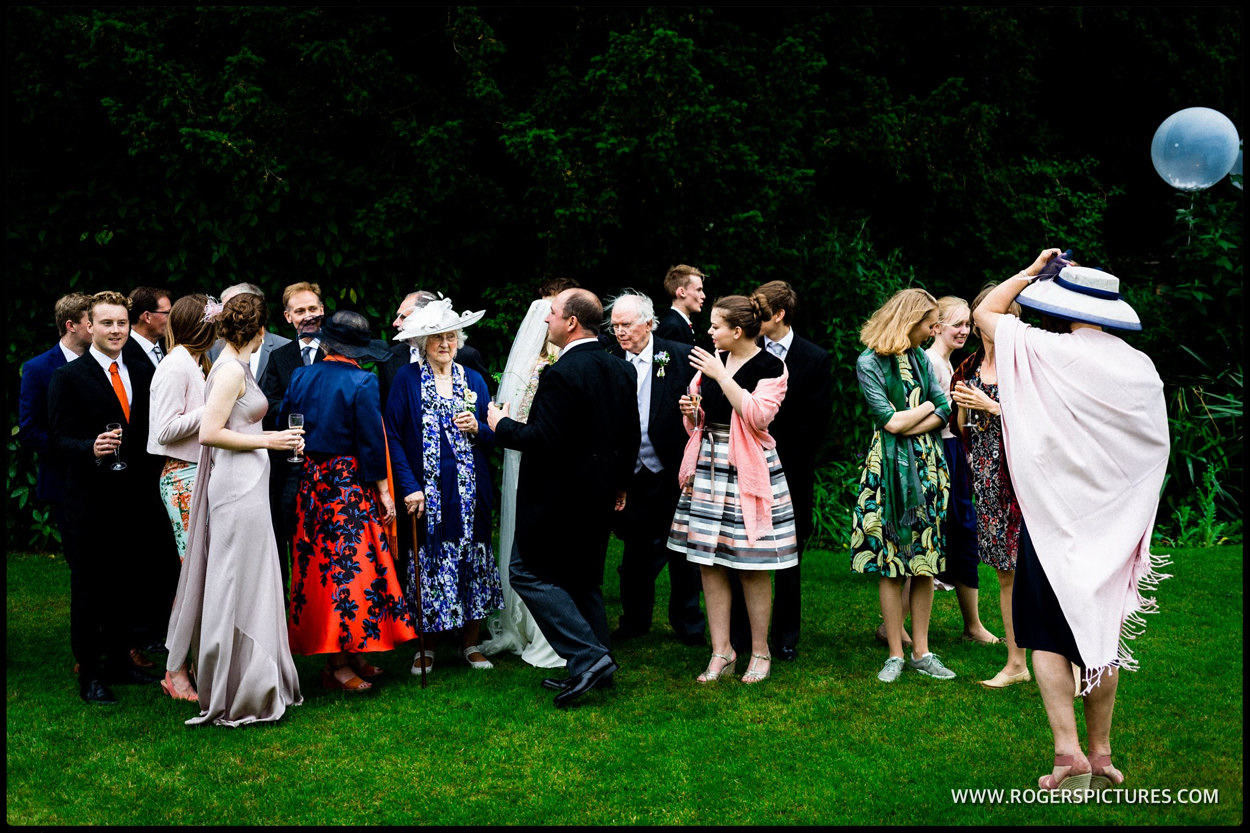 Group of wedding guests in Dorset