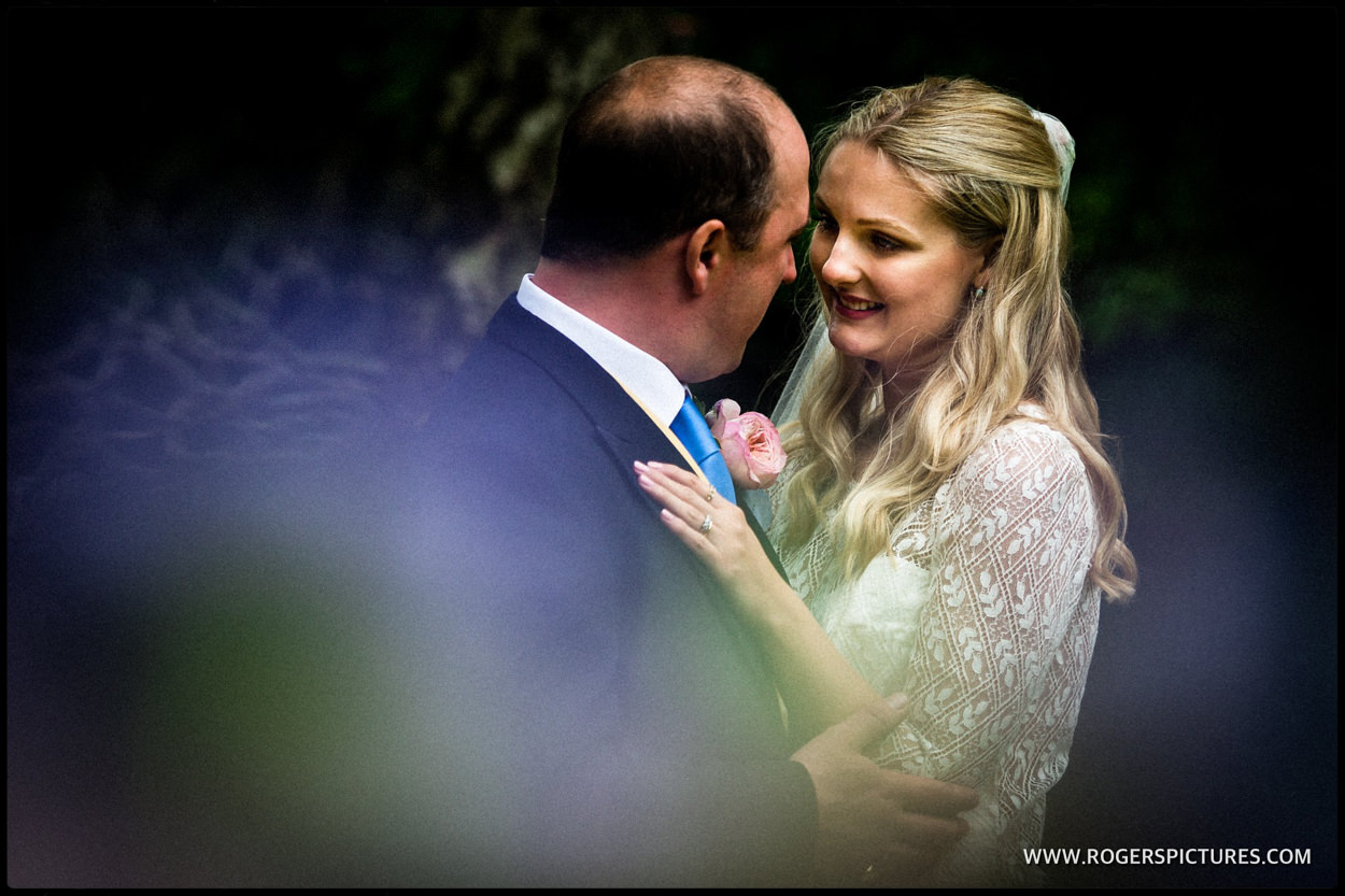 Portrait of bride and groom at Dorset wedding