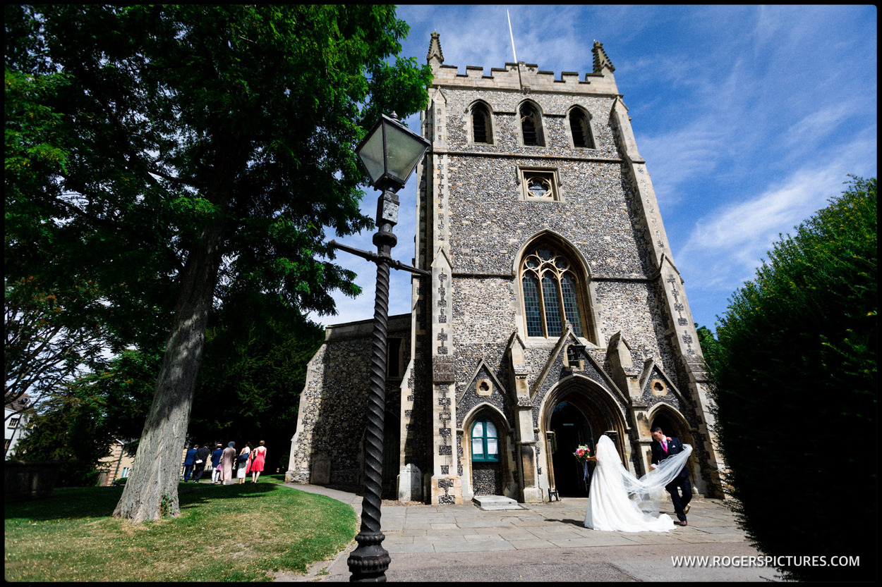 Wedding at St John the Baptist church in Royston