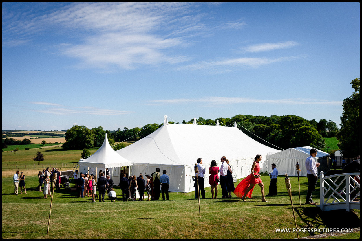 Marquee wedding at Burloes Hall Royston