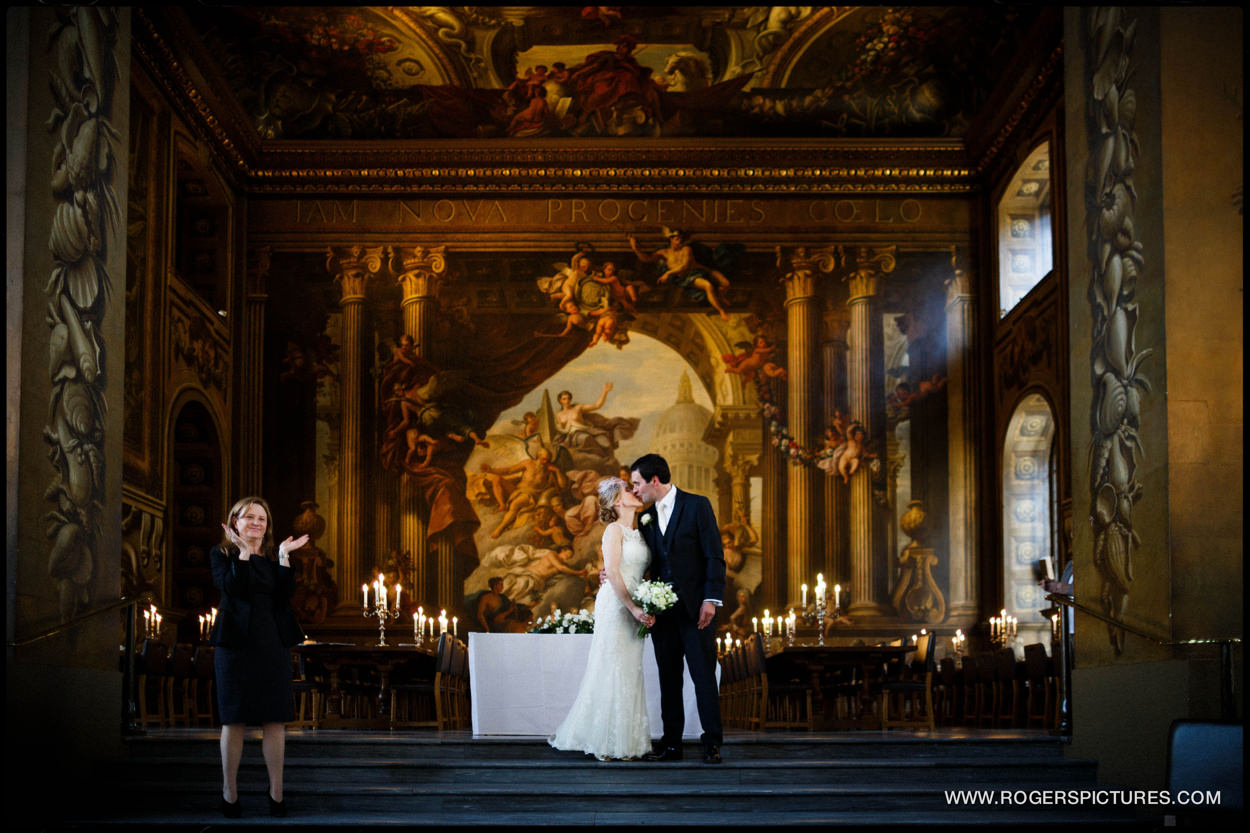 Stunning backdrop for a wedding in Greenwich