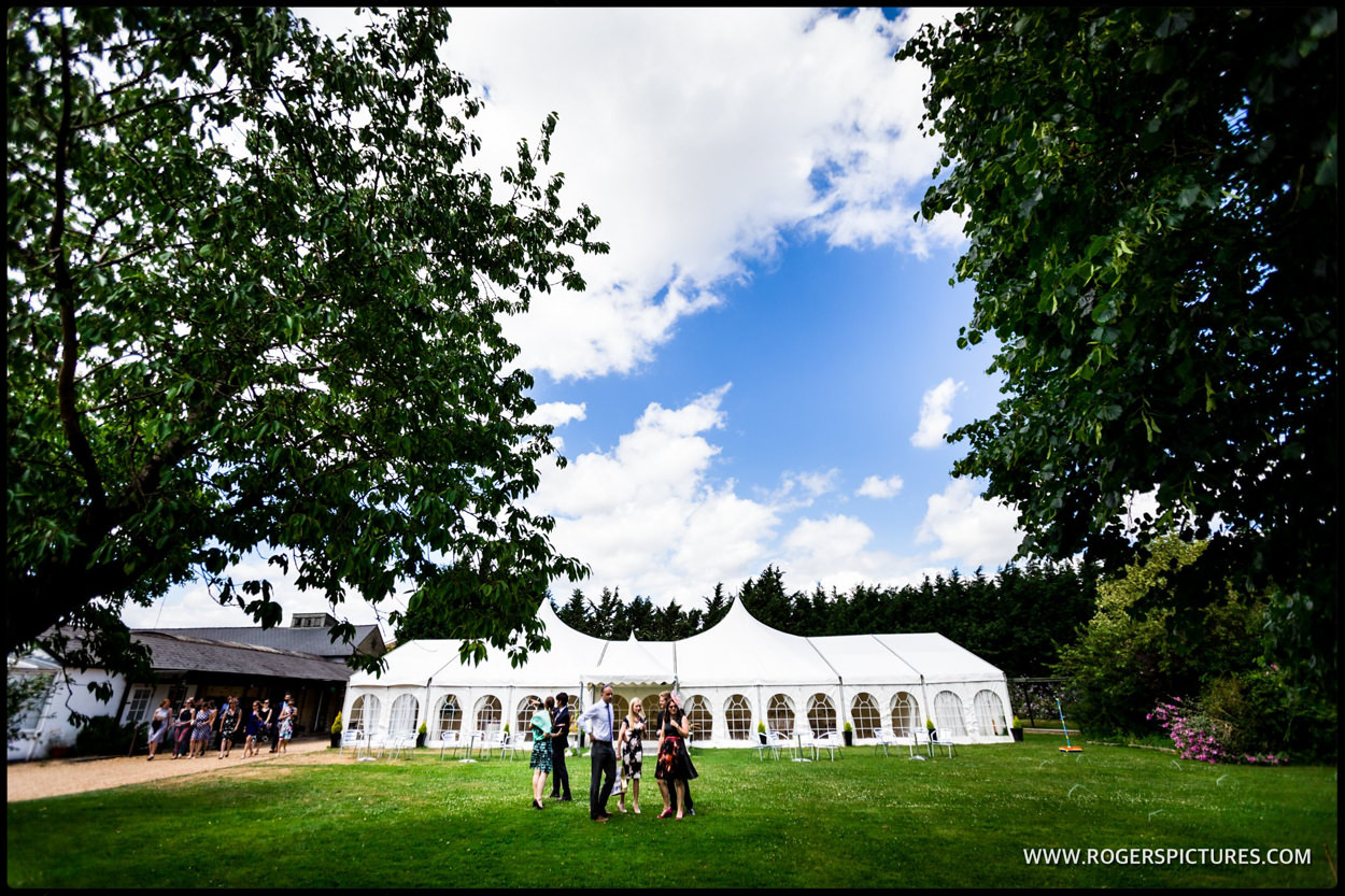Minstrel Court marquee wedding in the Summer