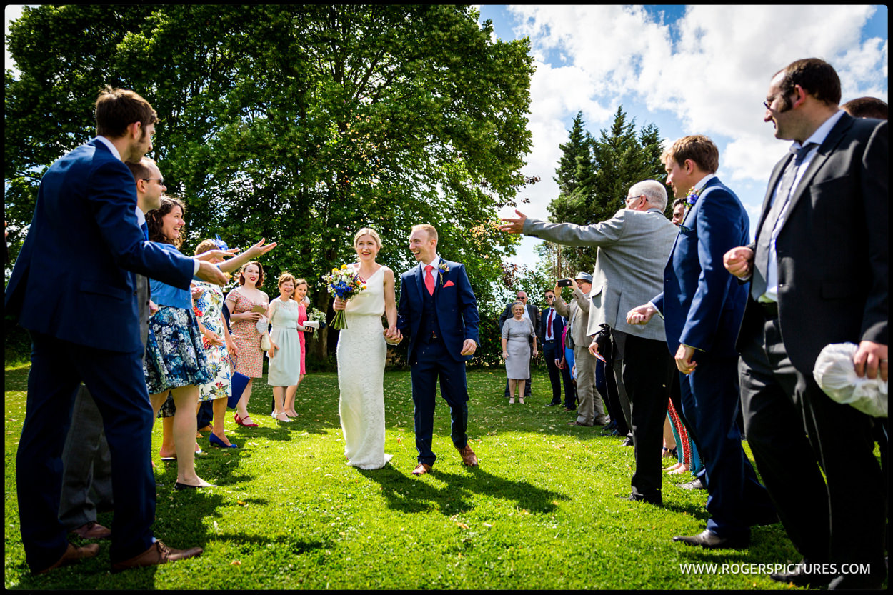 Confetti at a Hertfordshire wedding outdoors