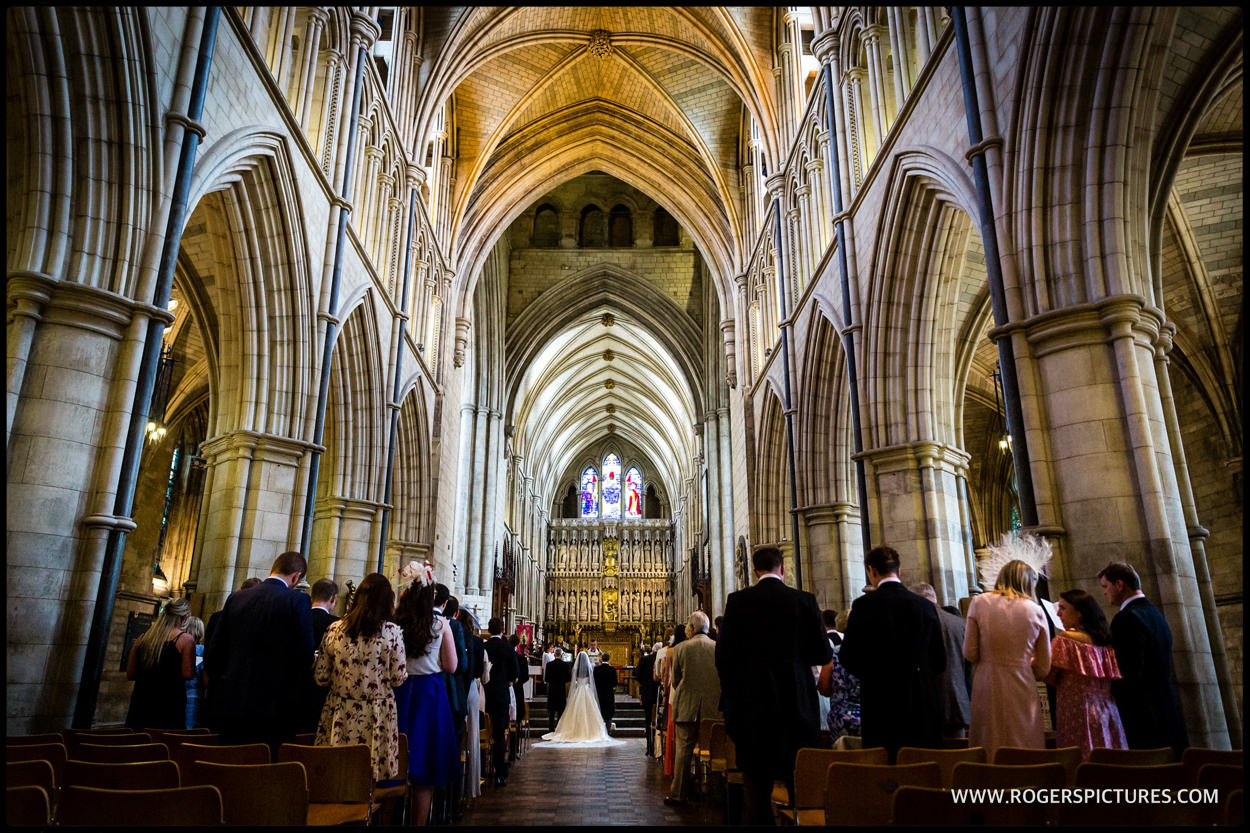 Southwark Cathedral wedding ceremony