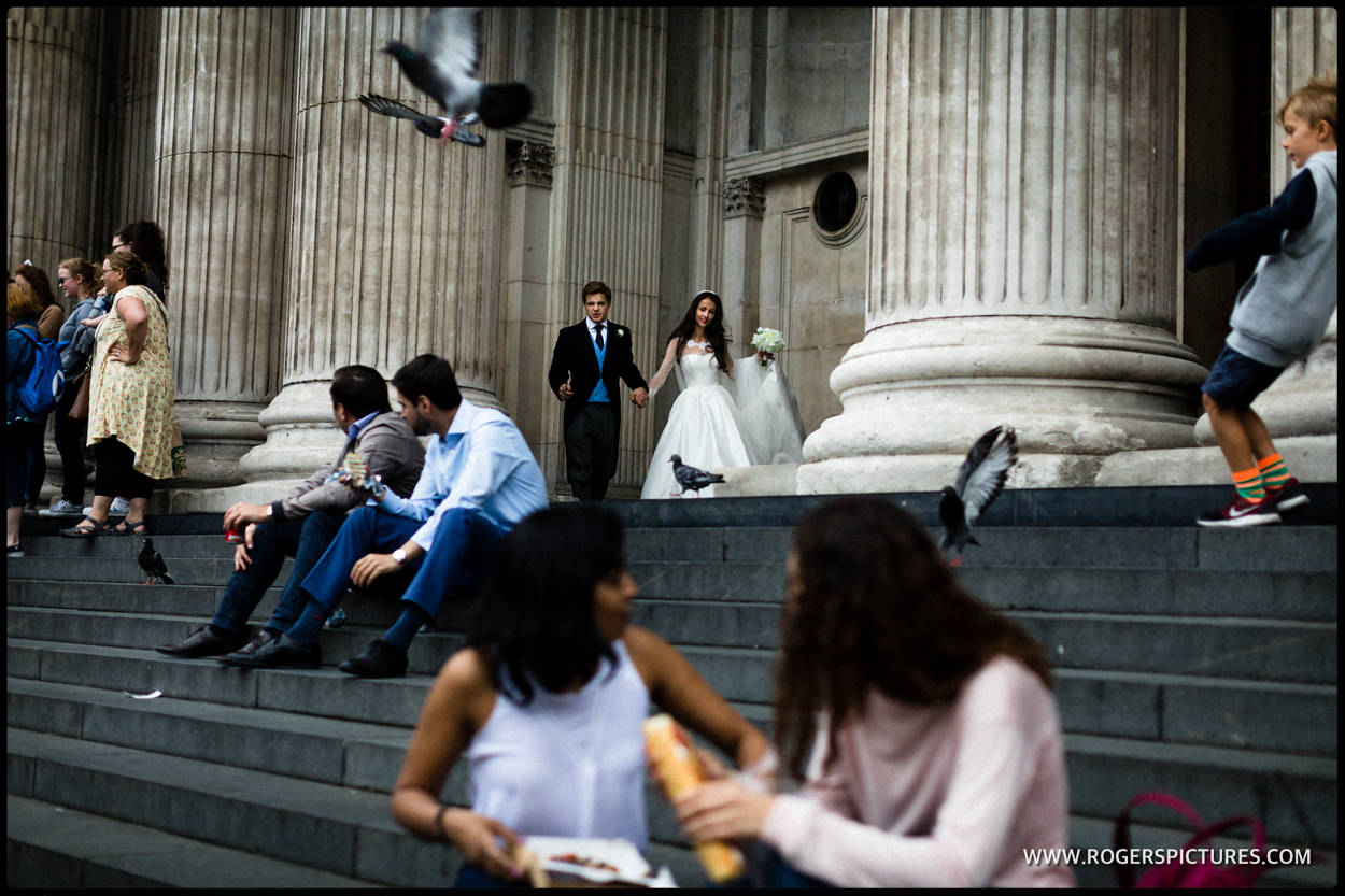Wedding photo at St Paul's Cathedral