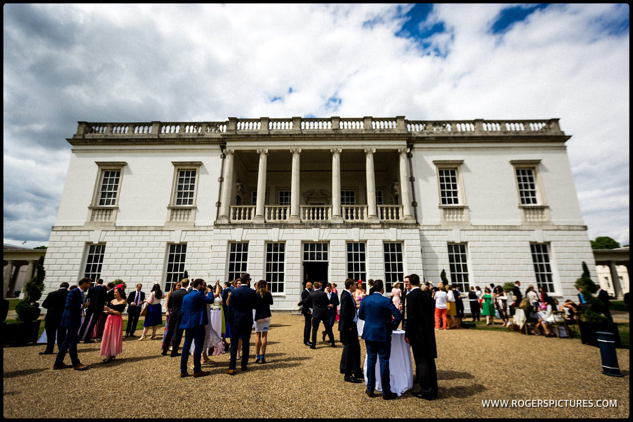 The Queen's House wedding reception