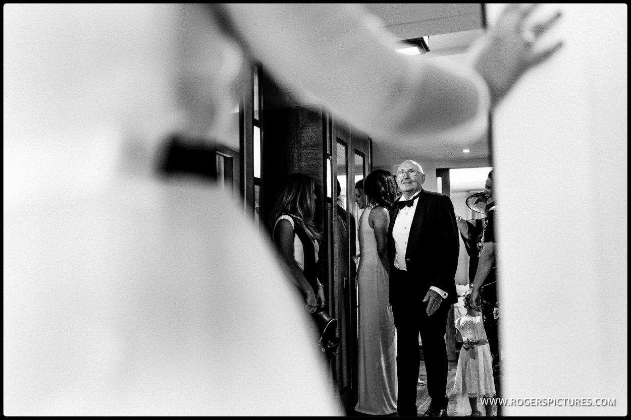 Grandad sees bride