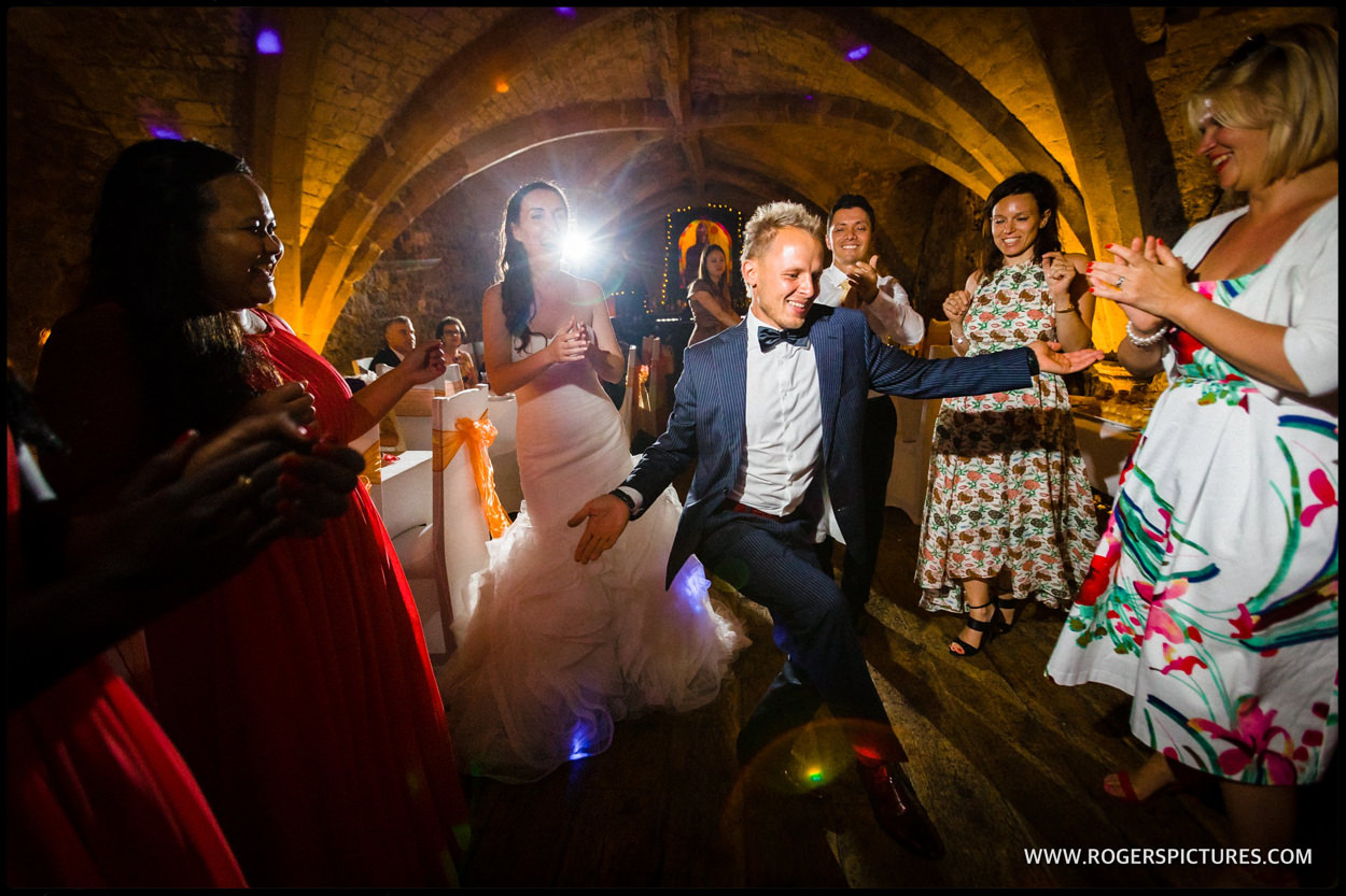 Wedding party at the George Vaults