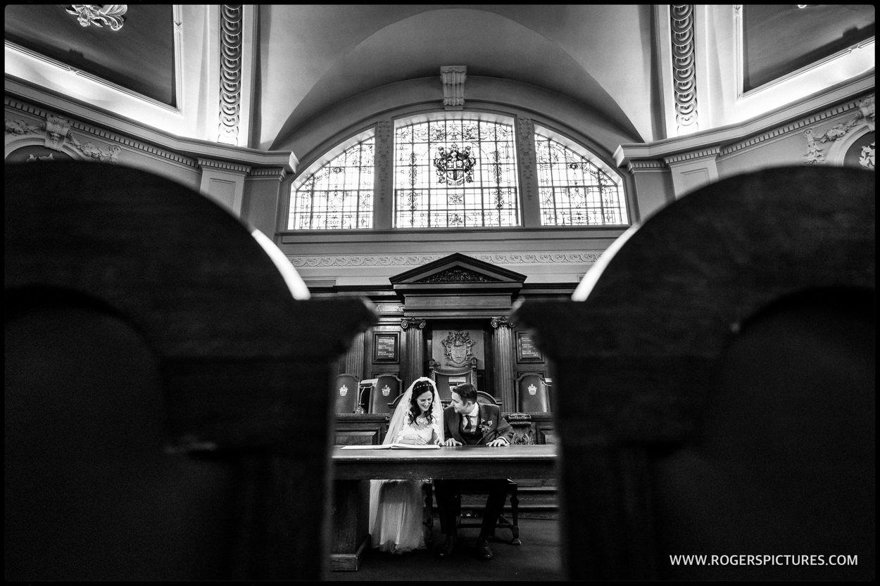 Islington Town Hall wedding photojournalism