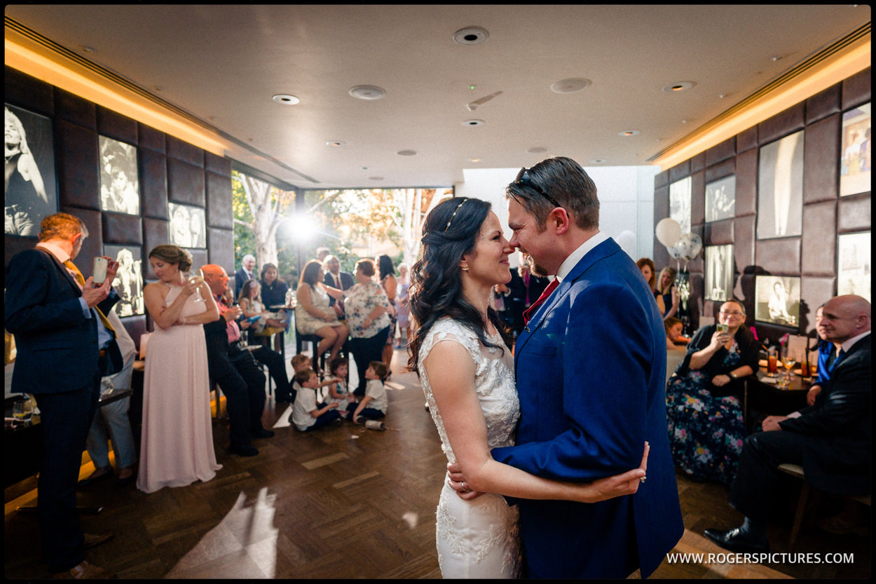 First dance at Fredericks restaurant wedding in Islington North London