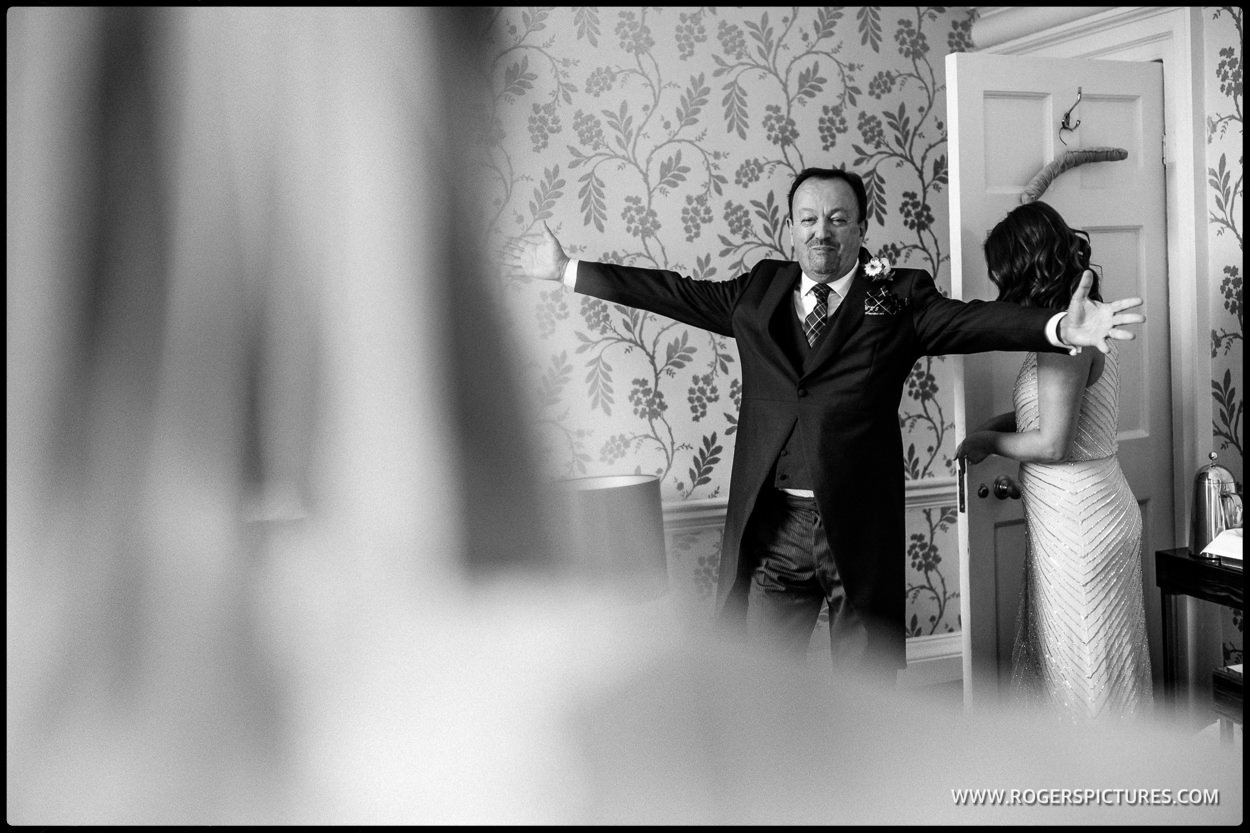 Father of the bide at Morden Hall wedding London