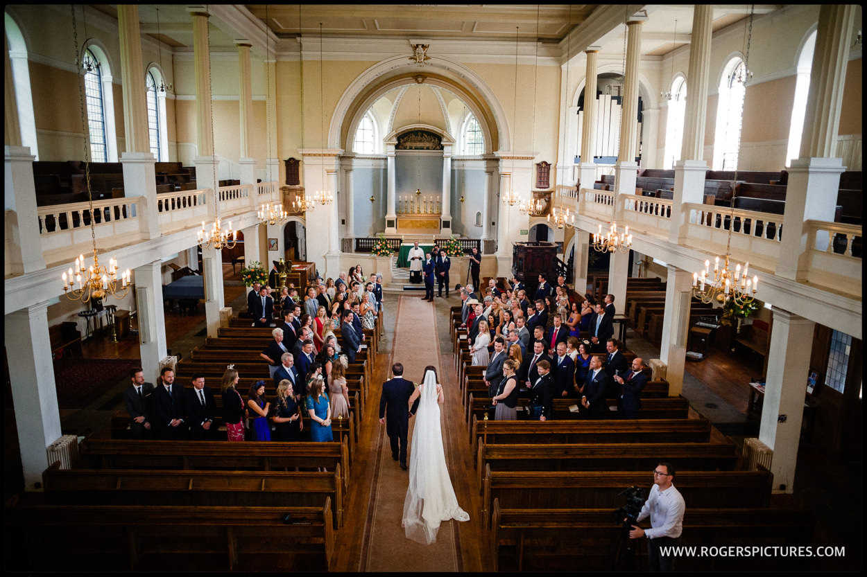 Wedding ceremony at St Anne's Church in Wandsworth