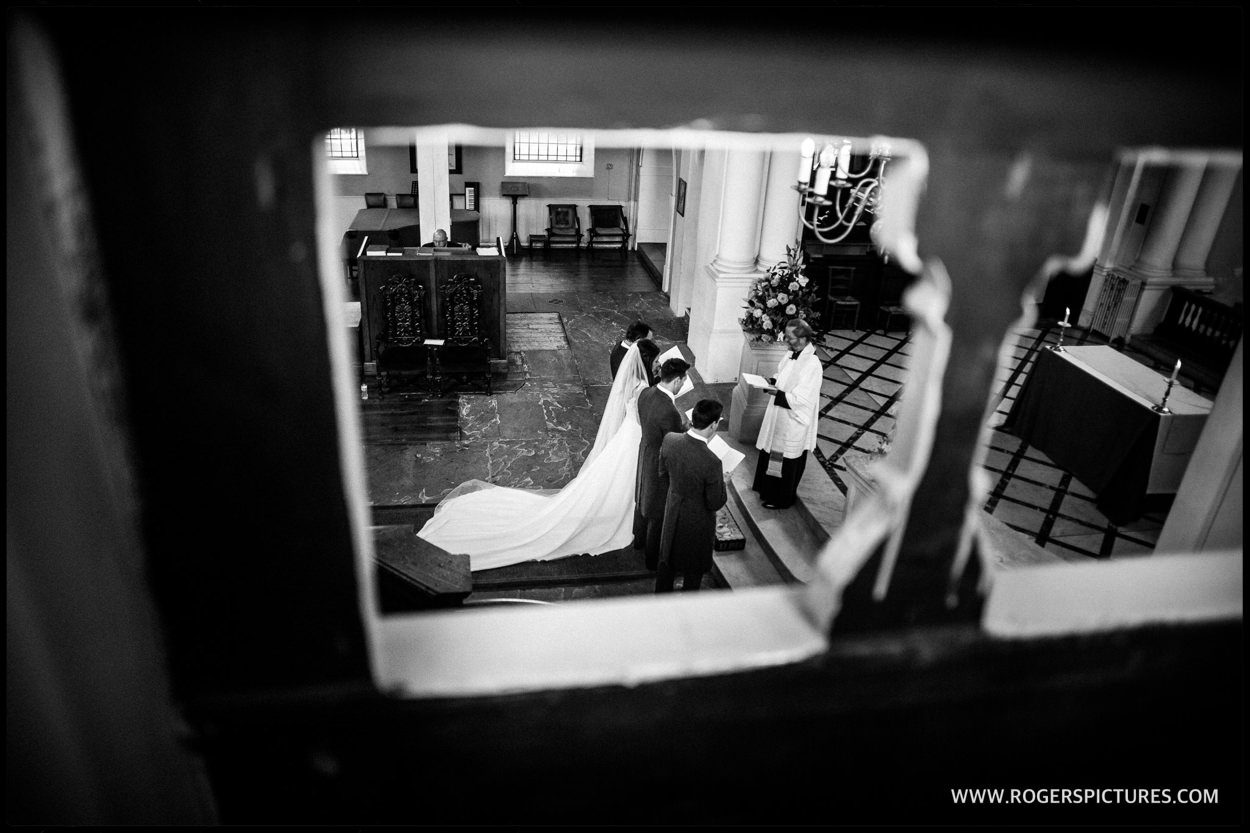 Bride at St Anne's Church Wandsworth