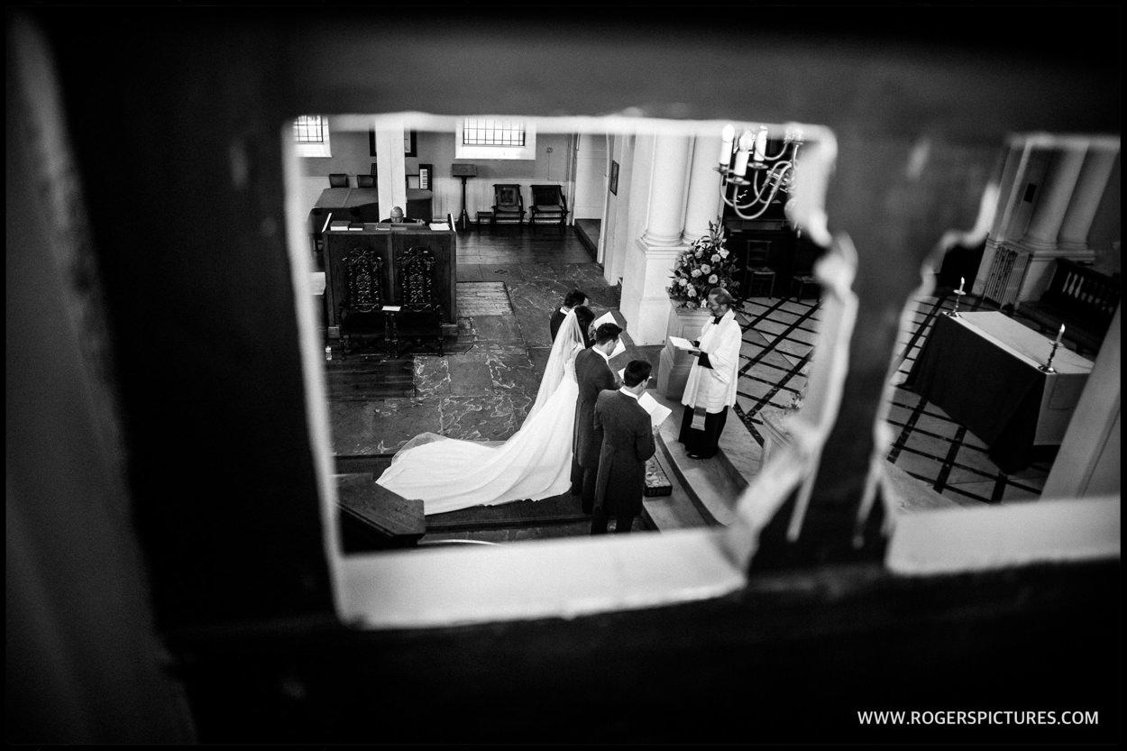 Bride at St Anne's Church Wandsworth