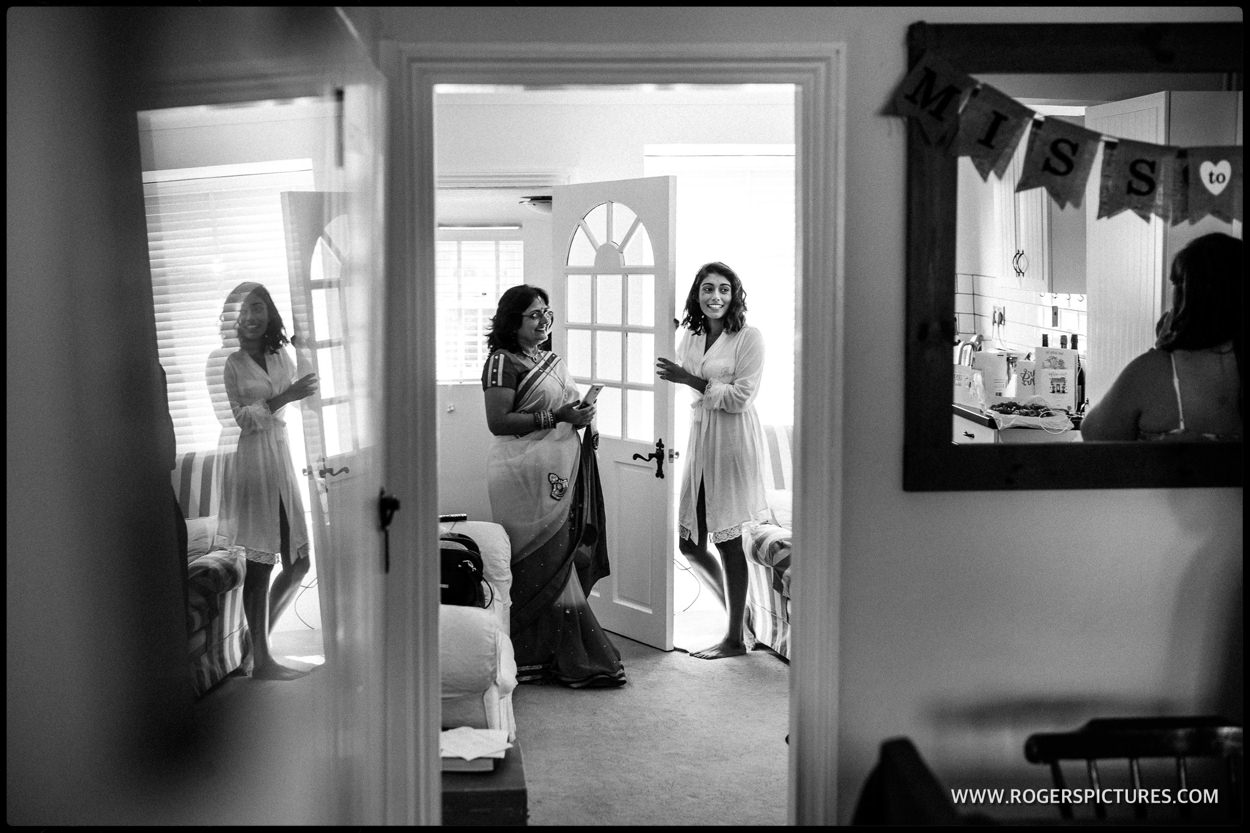 Brides wedding preparation at Ickleford in Hertfordshire