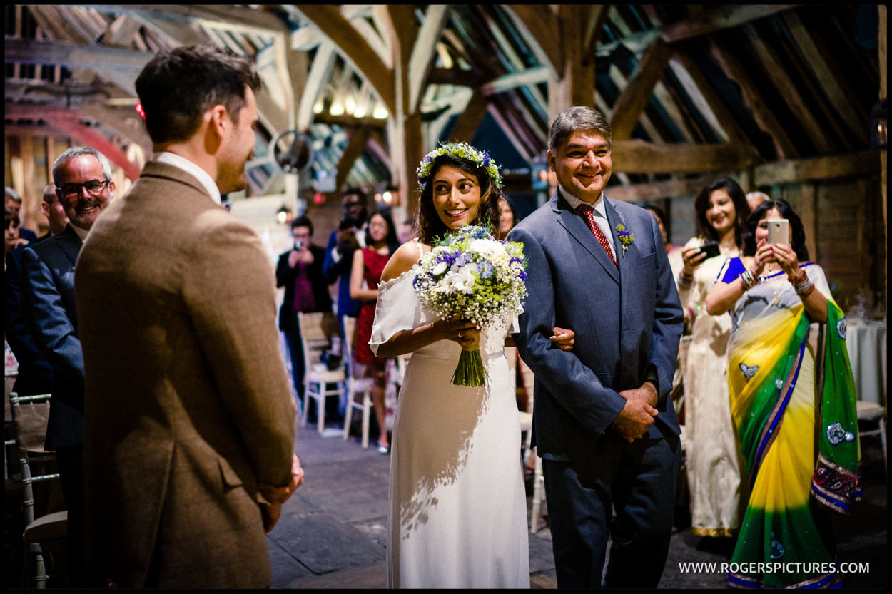 Wedding at Priory Barn