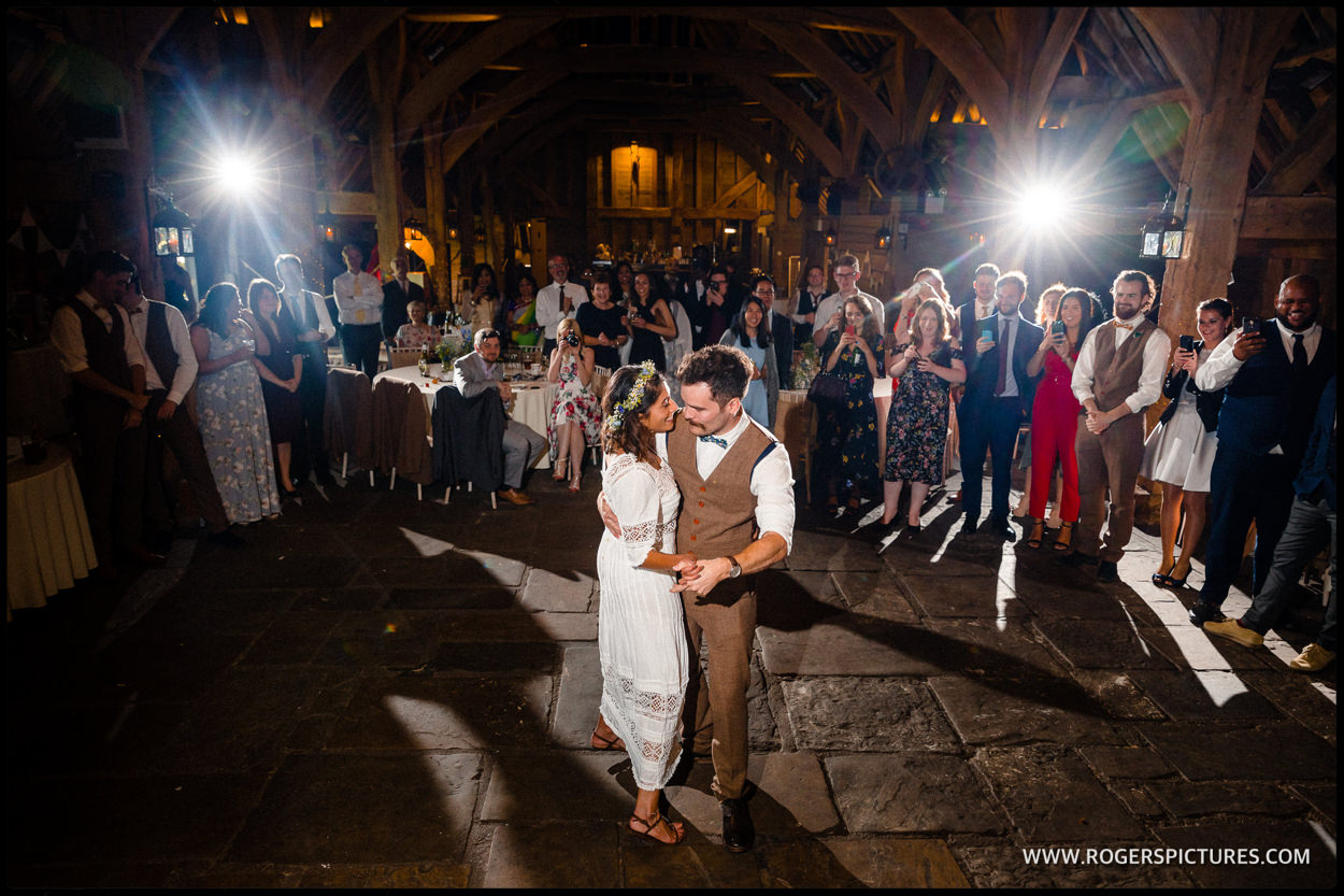 Priory Barn in Little Wymondley First Dance