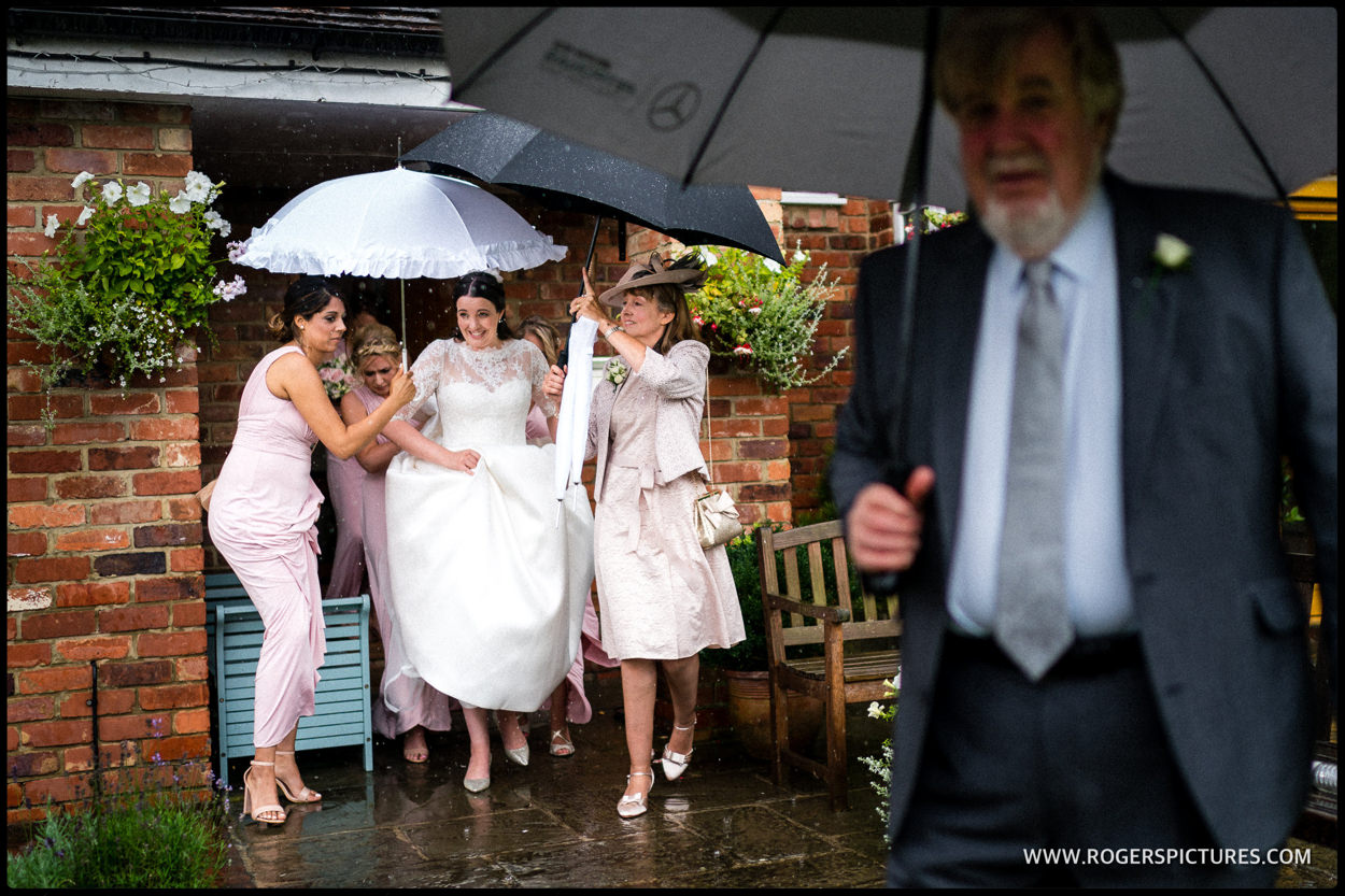 Rainy Wedding Day Photographer