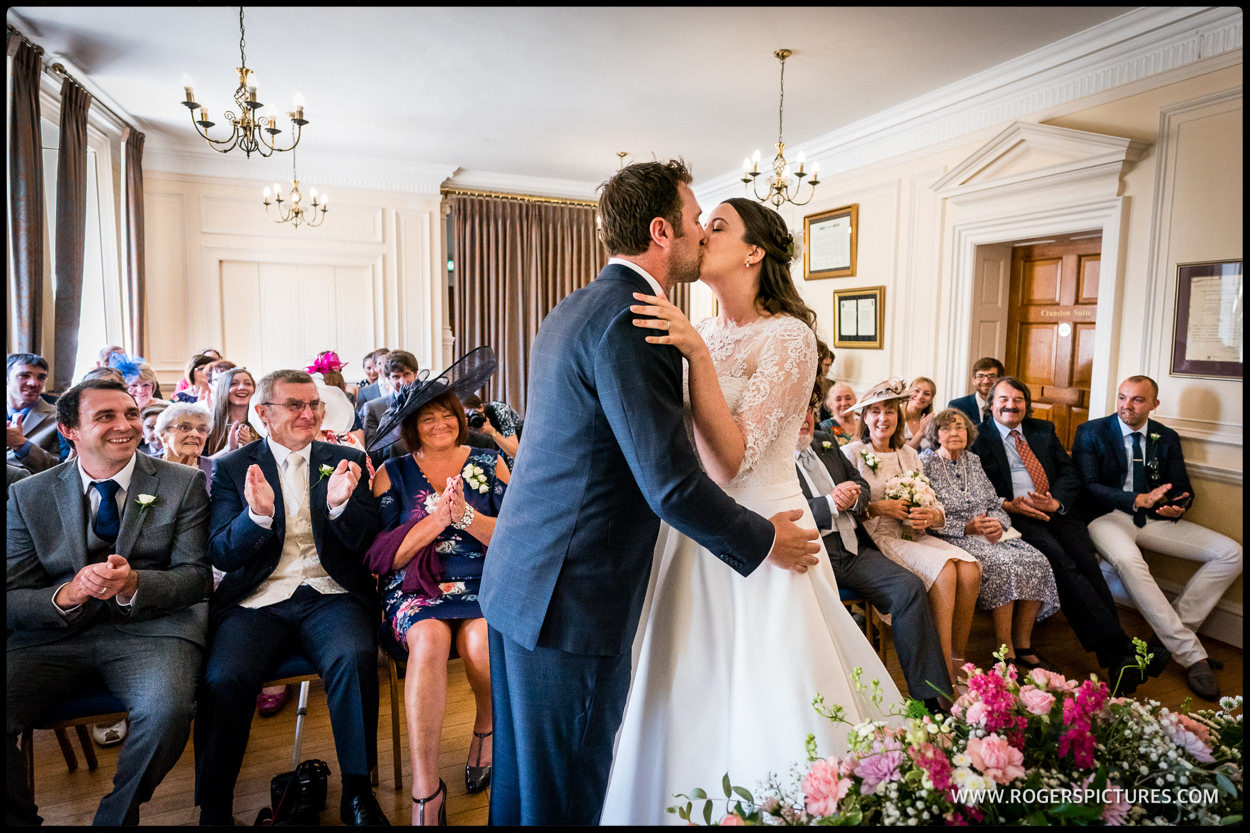 Bride and groom married in Surrey