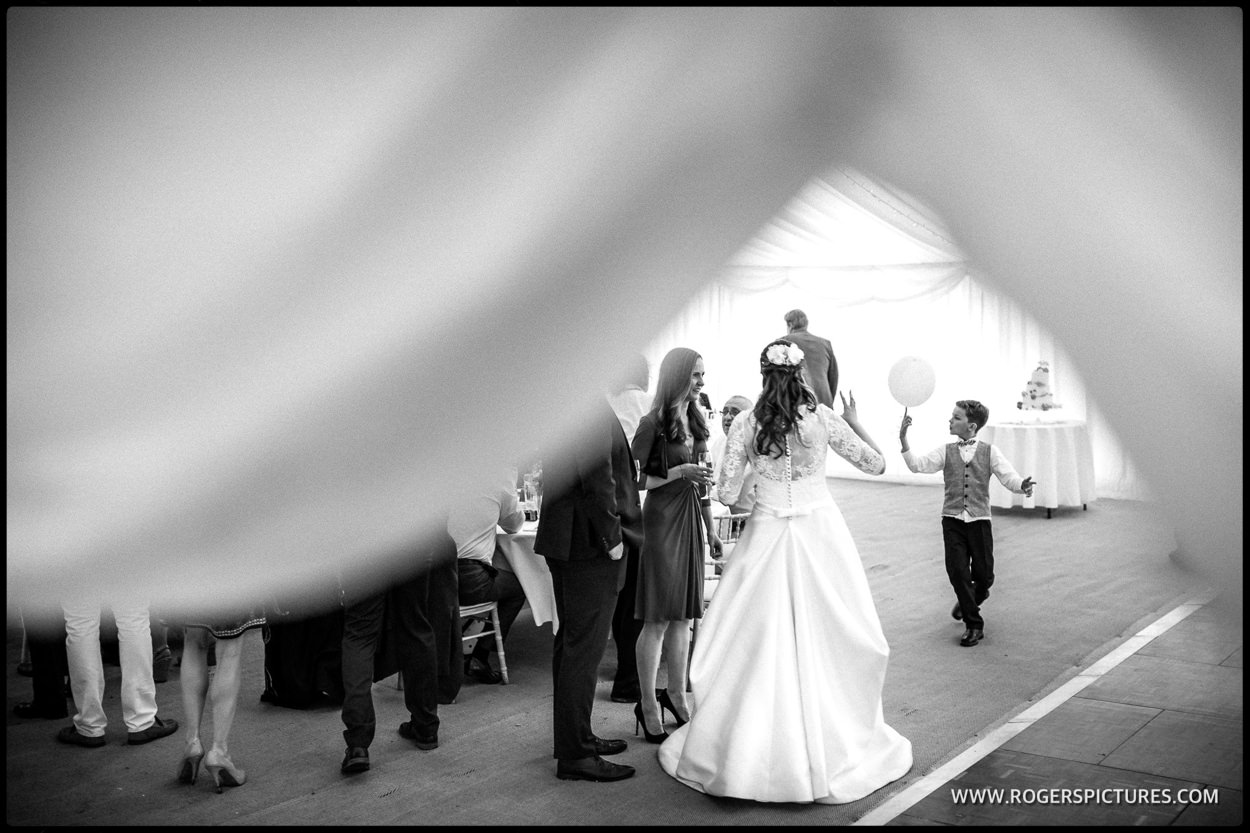 Surrey garden marquee wedding photography