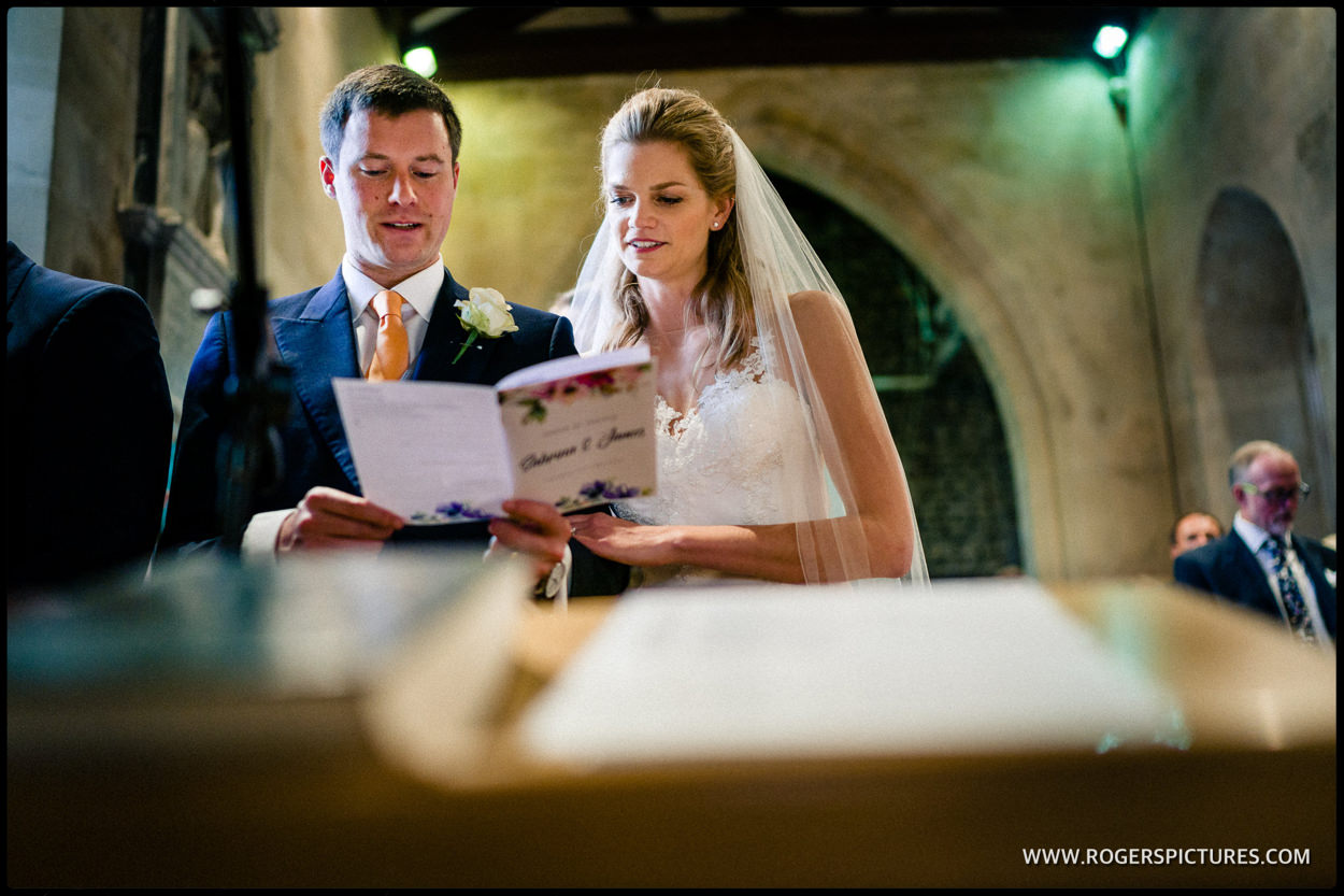 Wedding ceremony in Bath Somerset