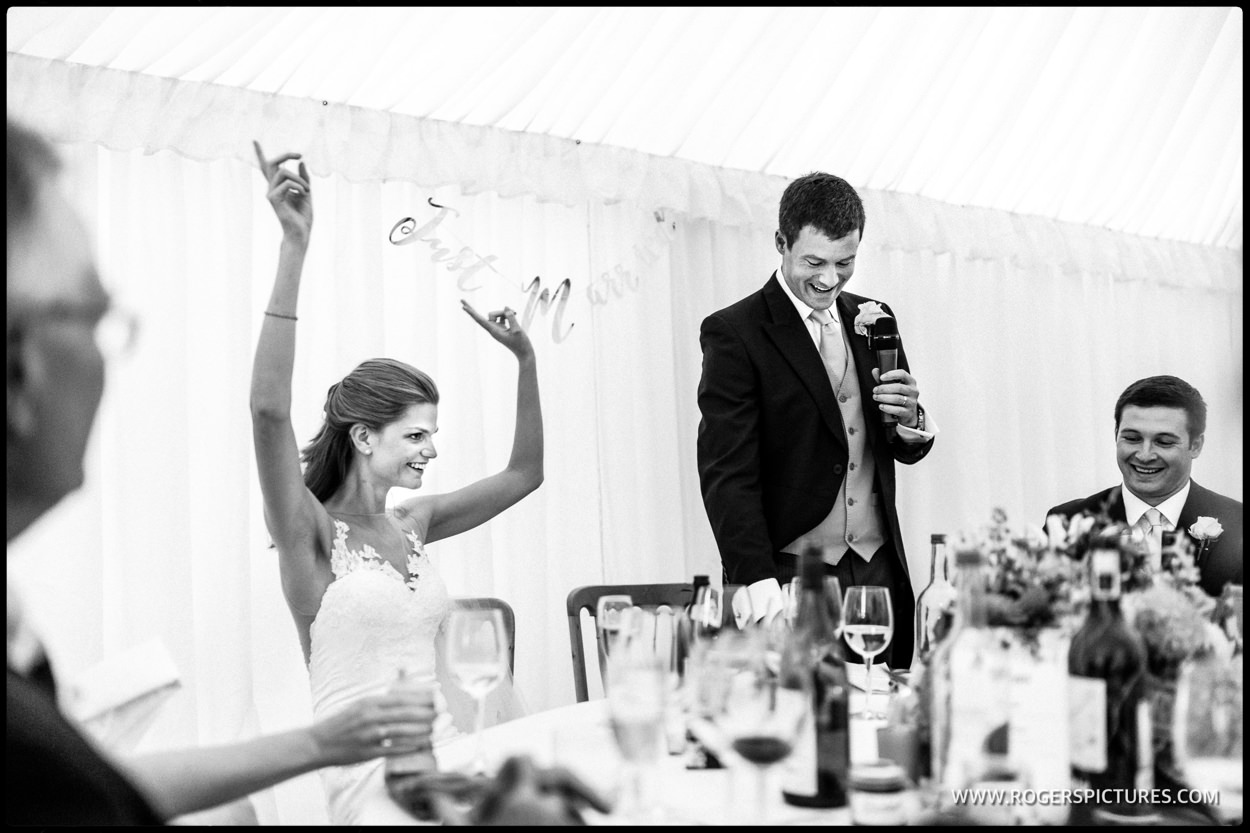 Marquee wedding photography in Bath
