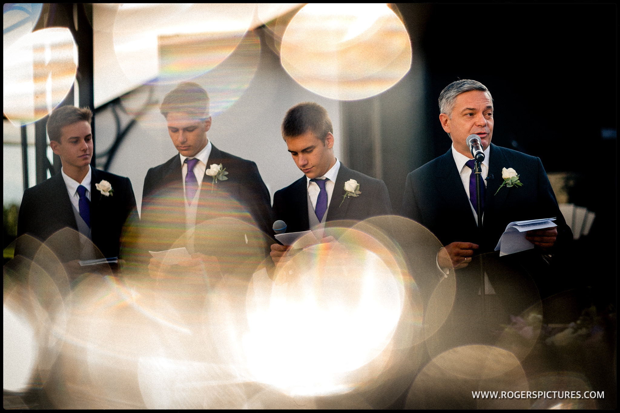 Wrotham Park wedding speeches