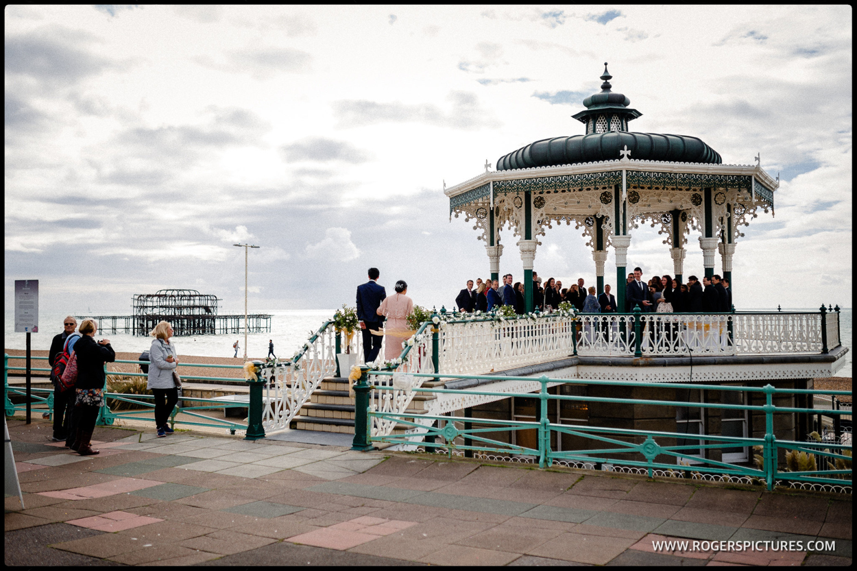 Wedding ceremony in brighton bandstand
