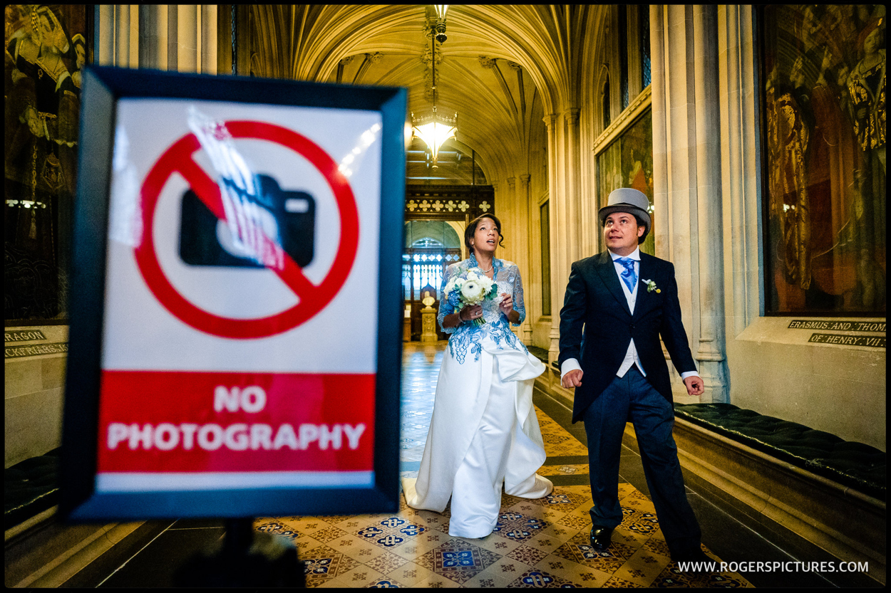 No Photography at House of Commons wedding