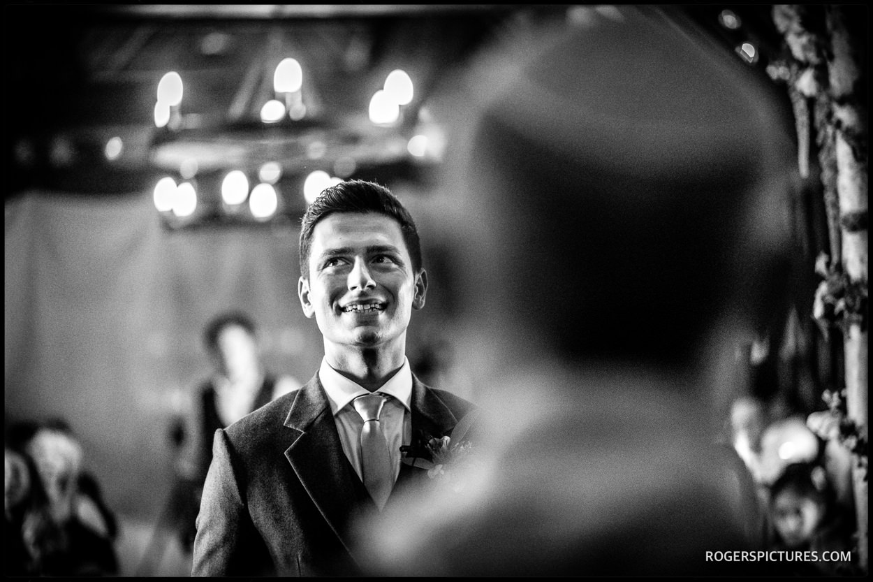 Nervous groom at Essendon Country Club wedding
