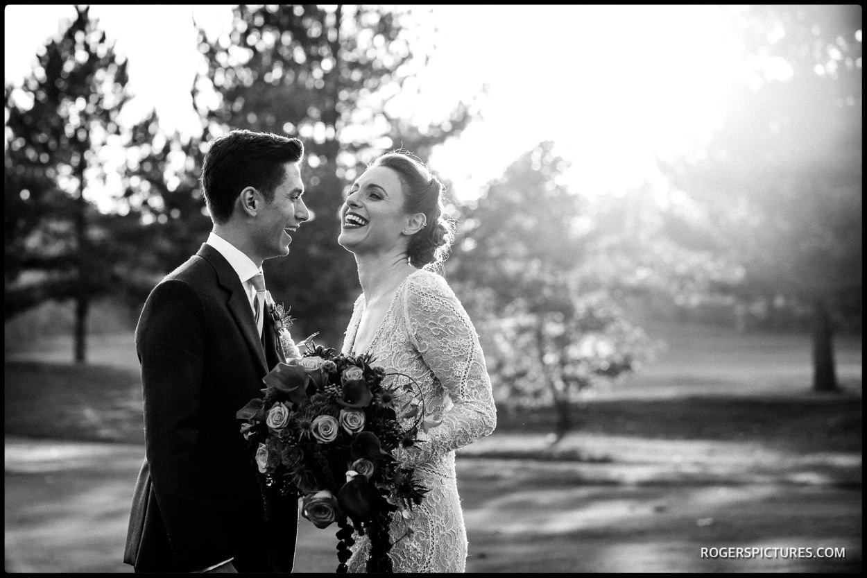 Essendon Country Club wedding black and white portrait