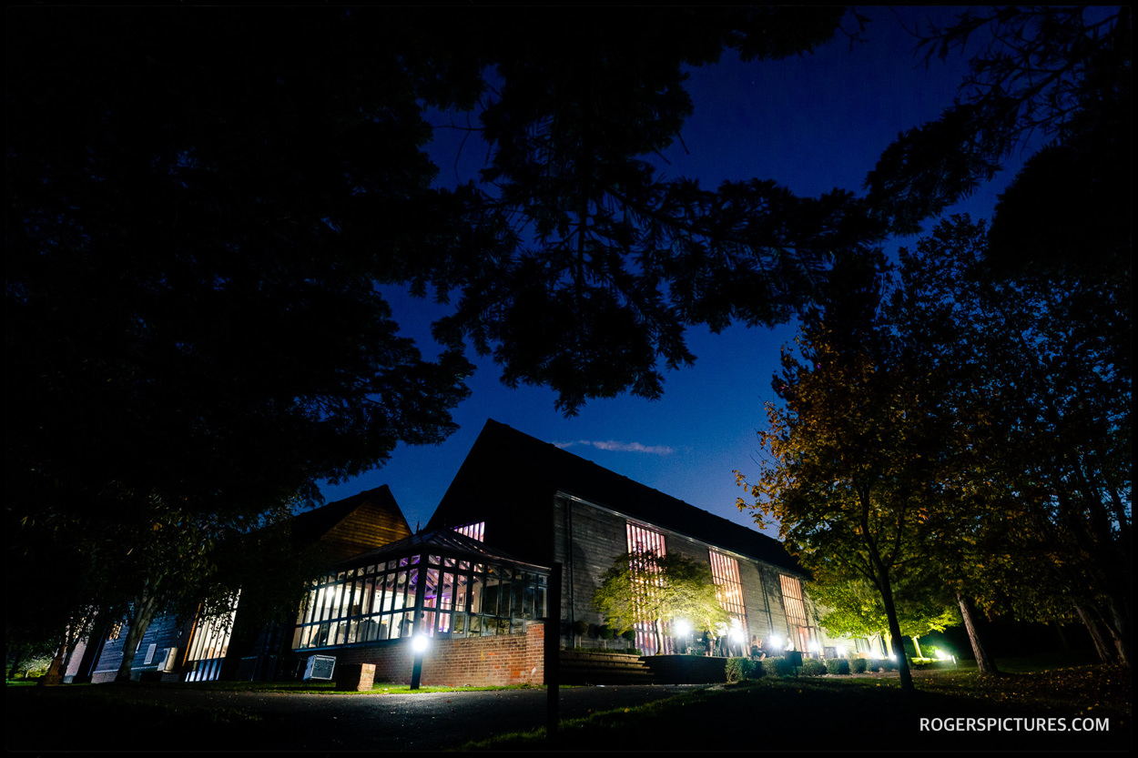 Essendon Country Club wedding in the evening
