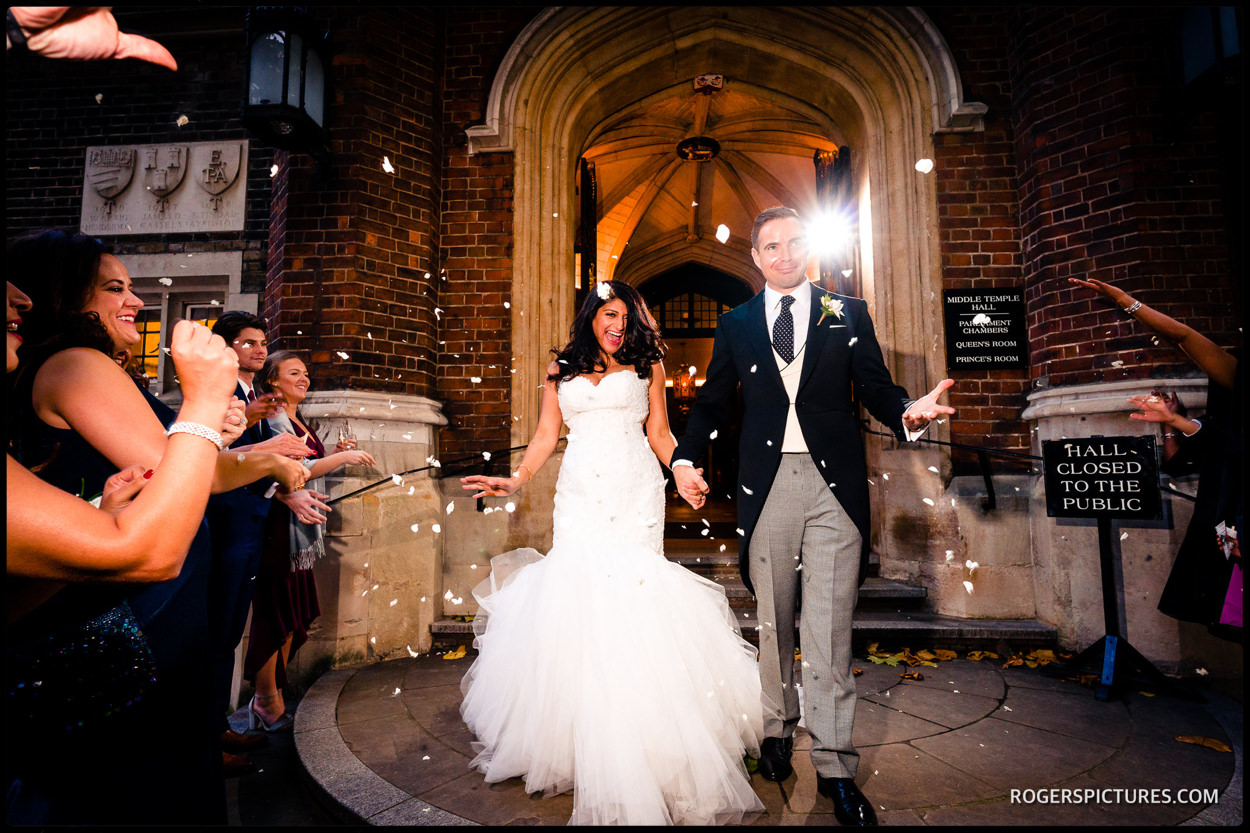 Middle Temple Indina and Christian wedding celebrations