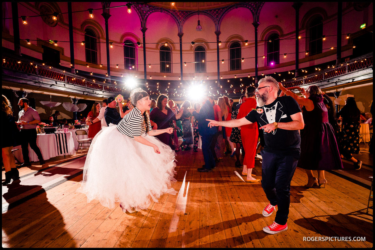 First dance at a Hackney round chapel wedding