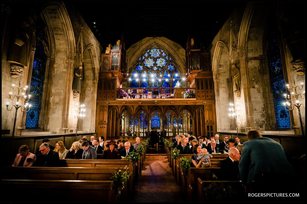 St Etheldredas church wedding ceremony