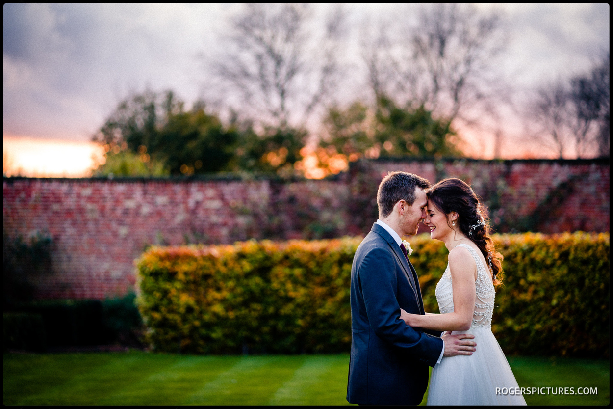 Walled Garden Beeston wedding portrait