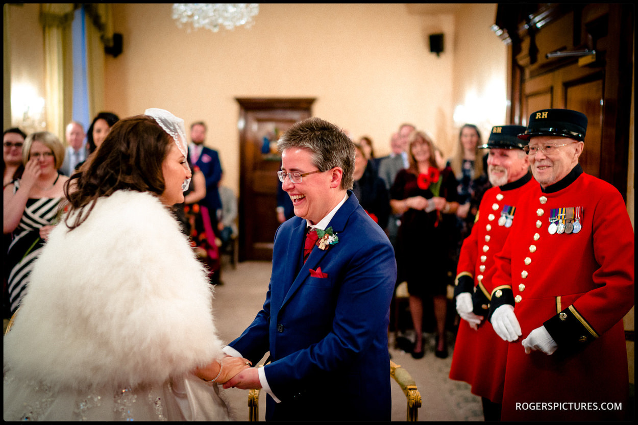 Chelsea Town Hall wedding picture