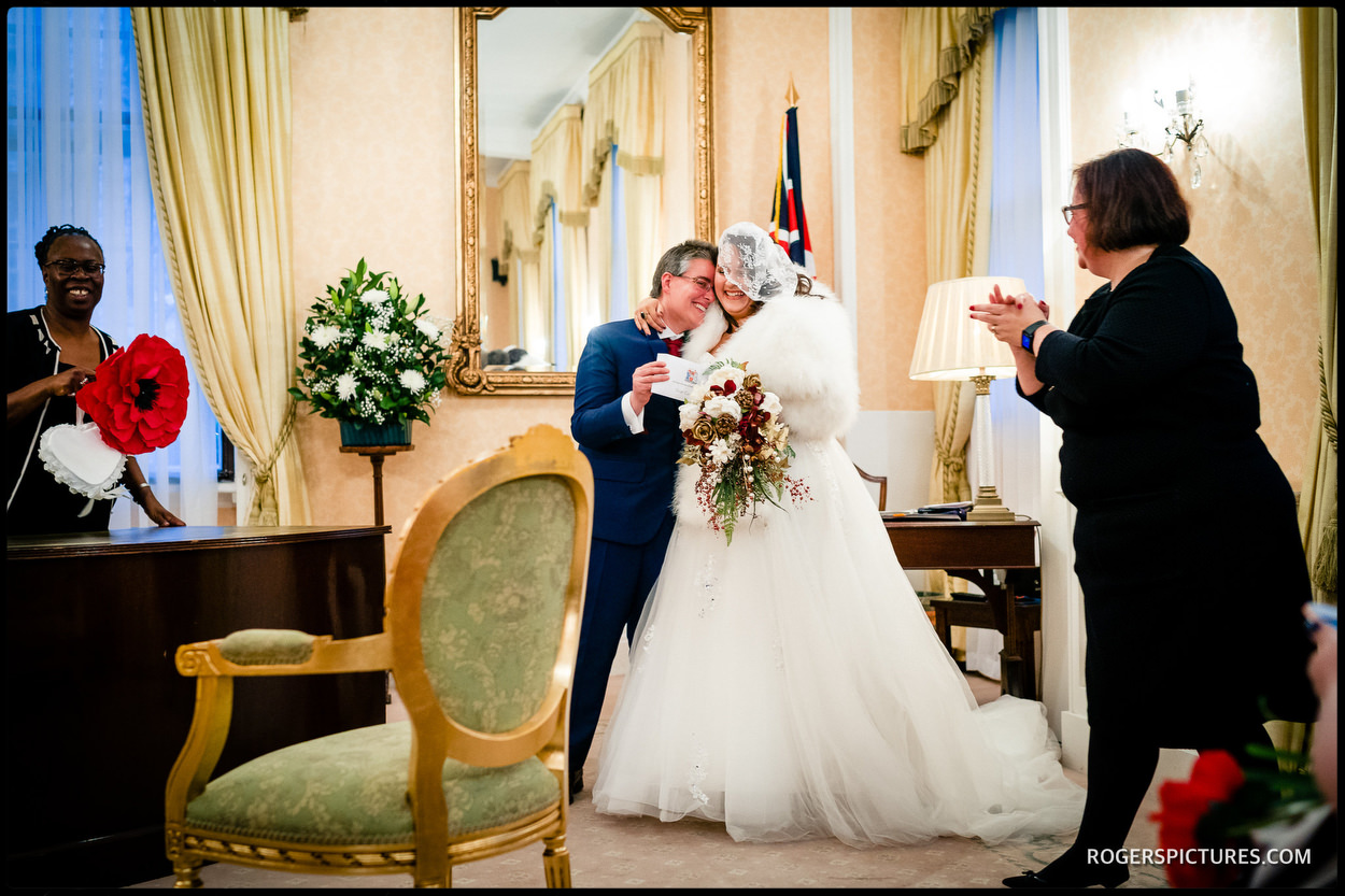Same sex wedding at Chelsea Town Hall