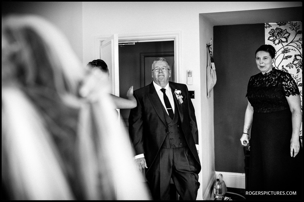 Documentary wedding photography at Oakley Court Windsor