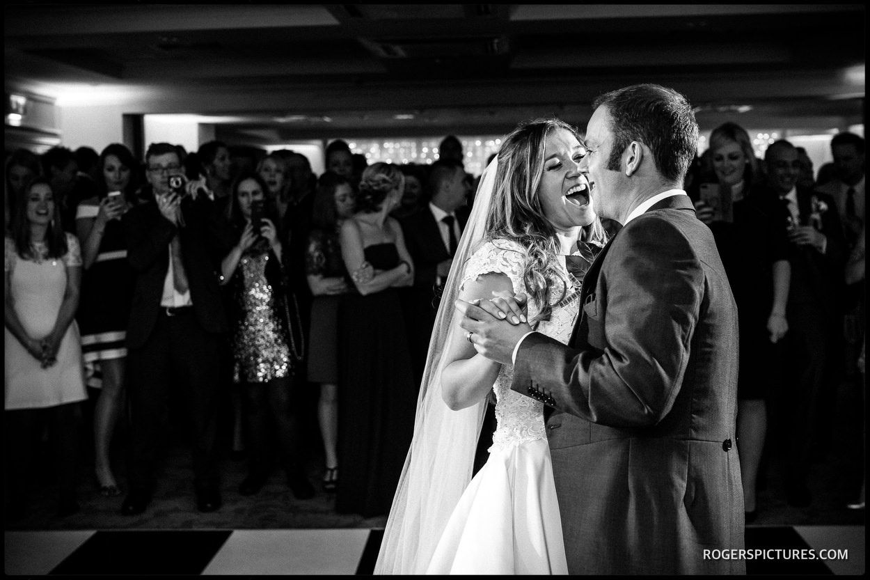 Couples first dance at Oakley Court Windsor