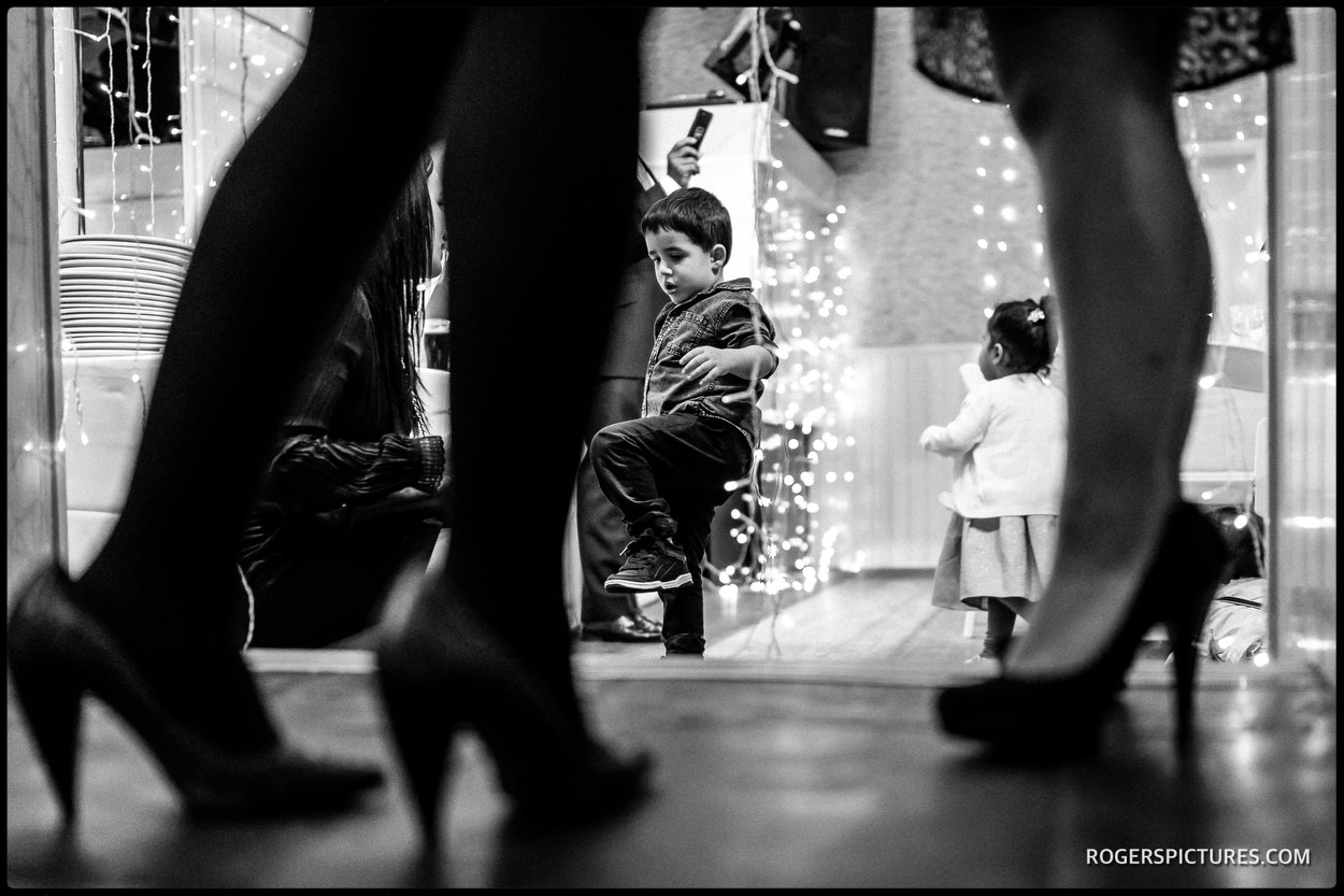 North London wedding black and white reportage