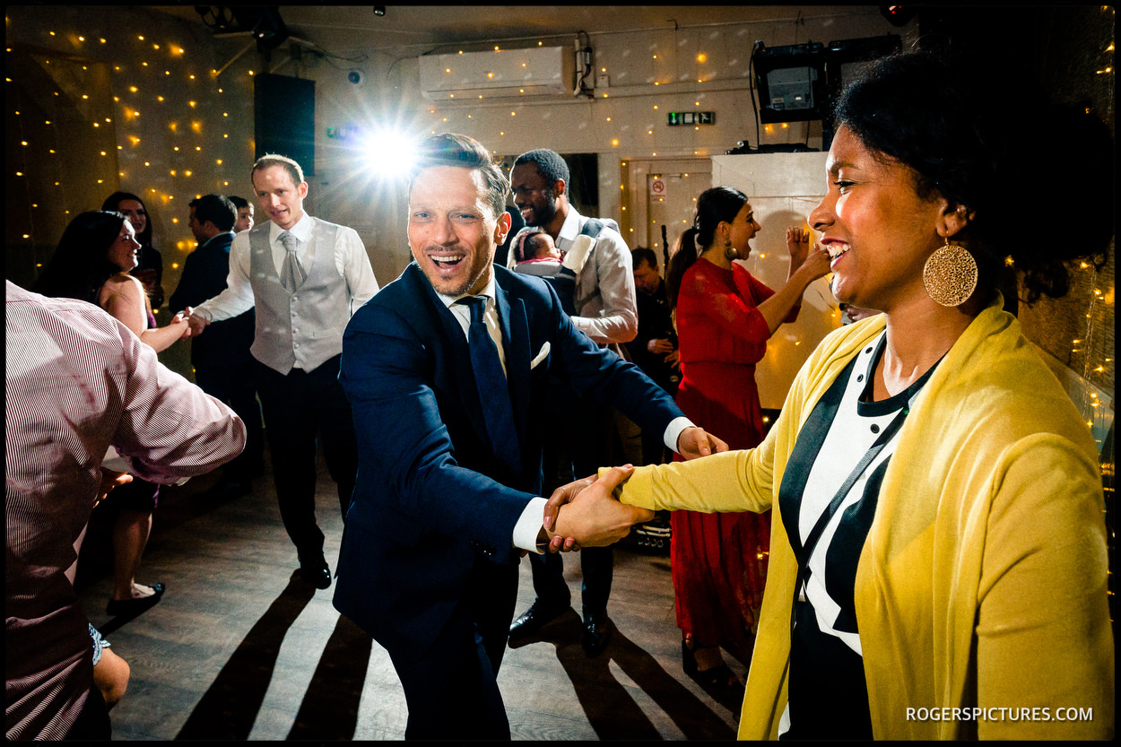On the dance floor at a North London wedding