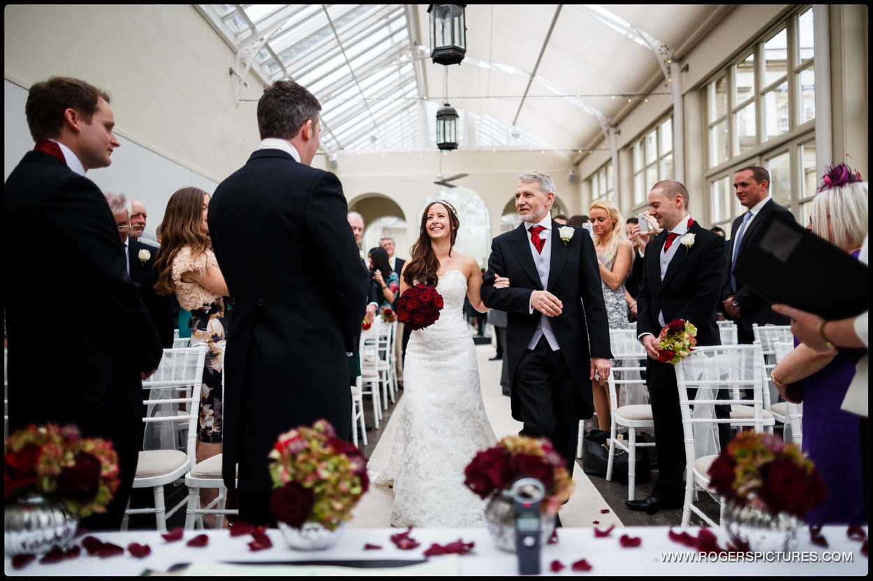 Wedding ceremony at Buxted Park Hotel