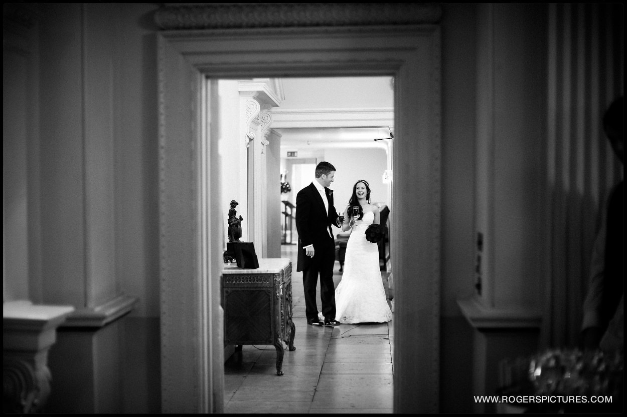 Newly weds at Buxted Park Hotel