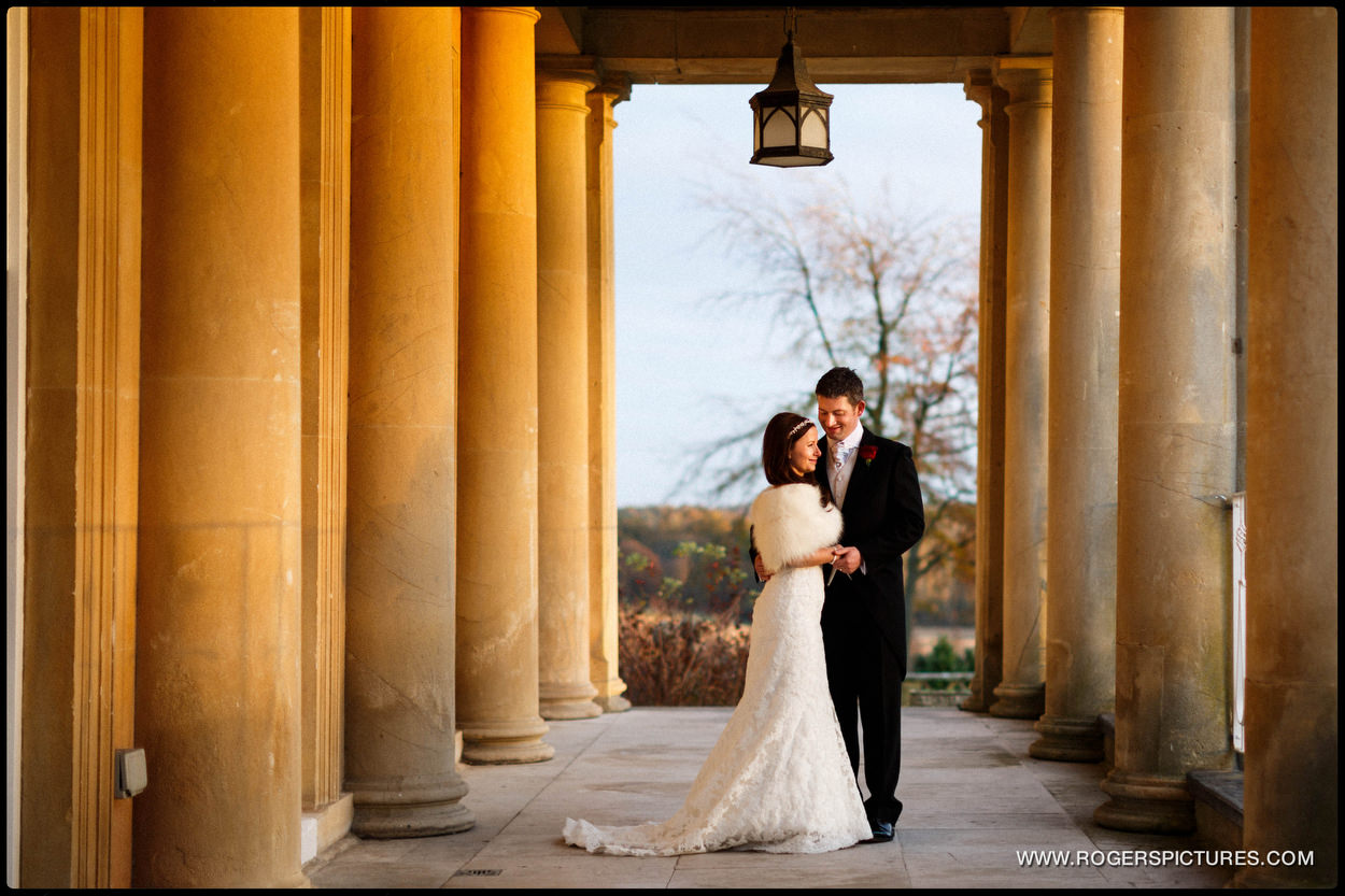 Bride and groom picture at Buxted Park Hotel