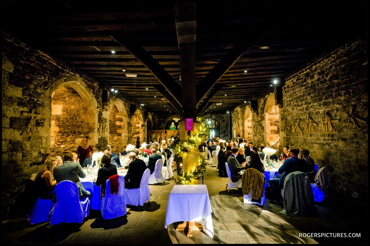 Wedding breakfast at The Crypt at Ely Place